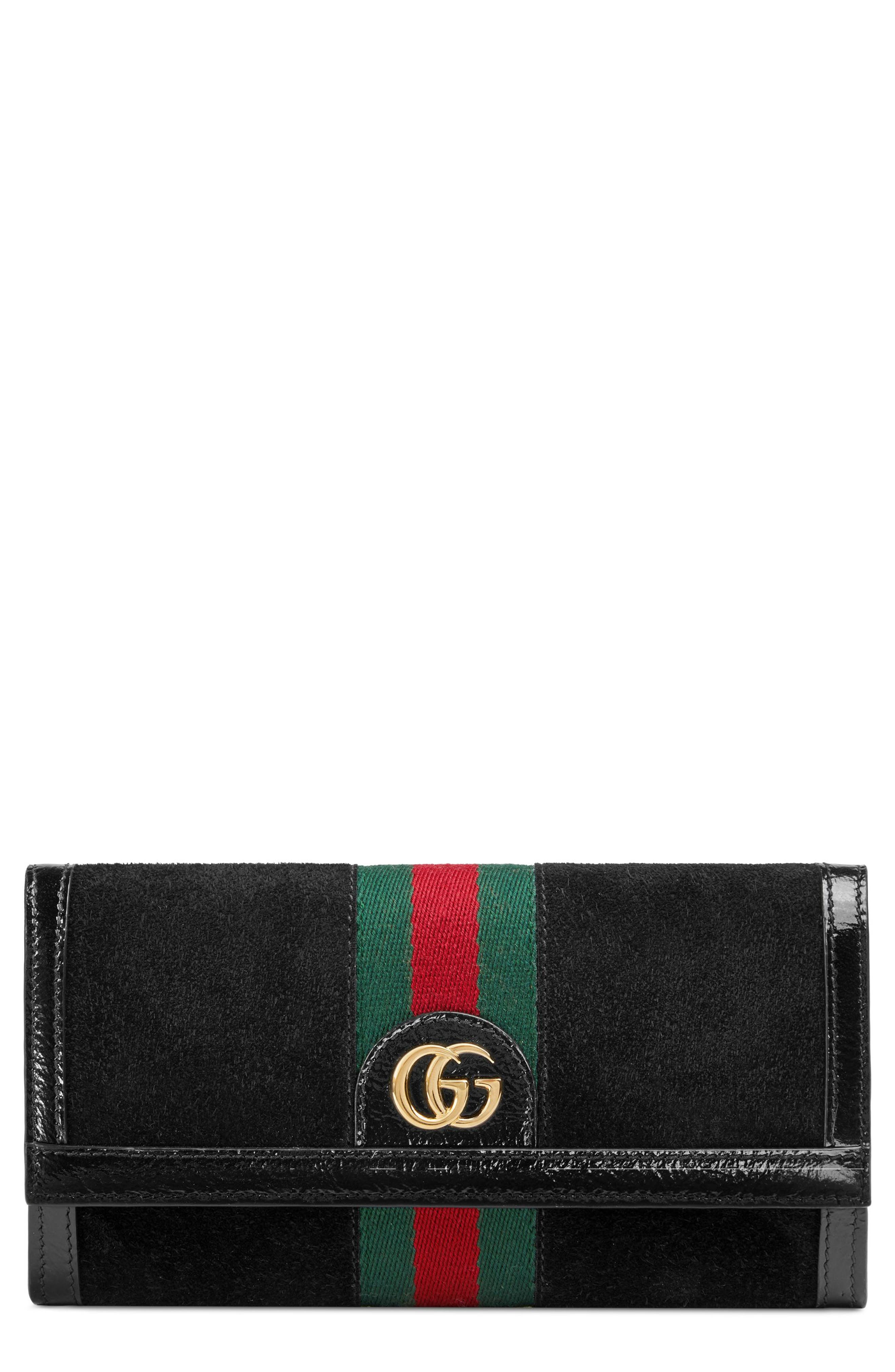 Alternate Image 1 Selected - Gucci Ophidia Suede Continental Wallet