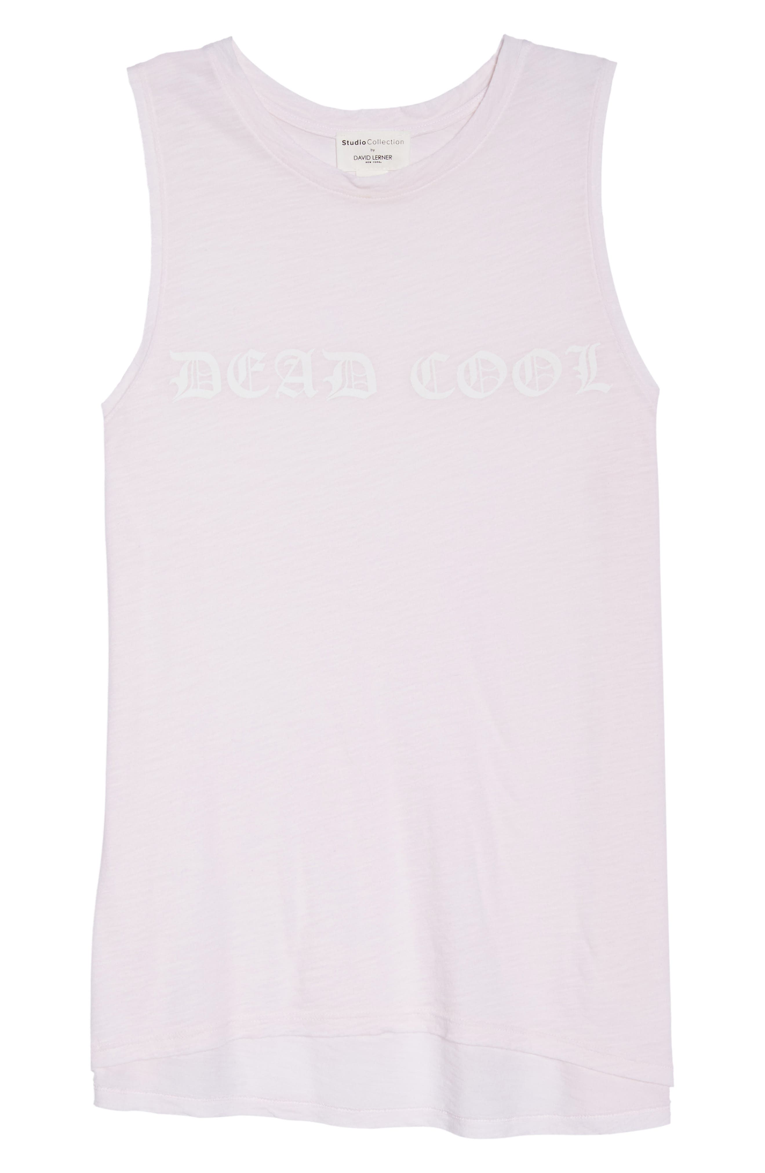 High/Low Muscle Tank,                             Alternate thumbnail 4, color,                             Soft Pink