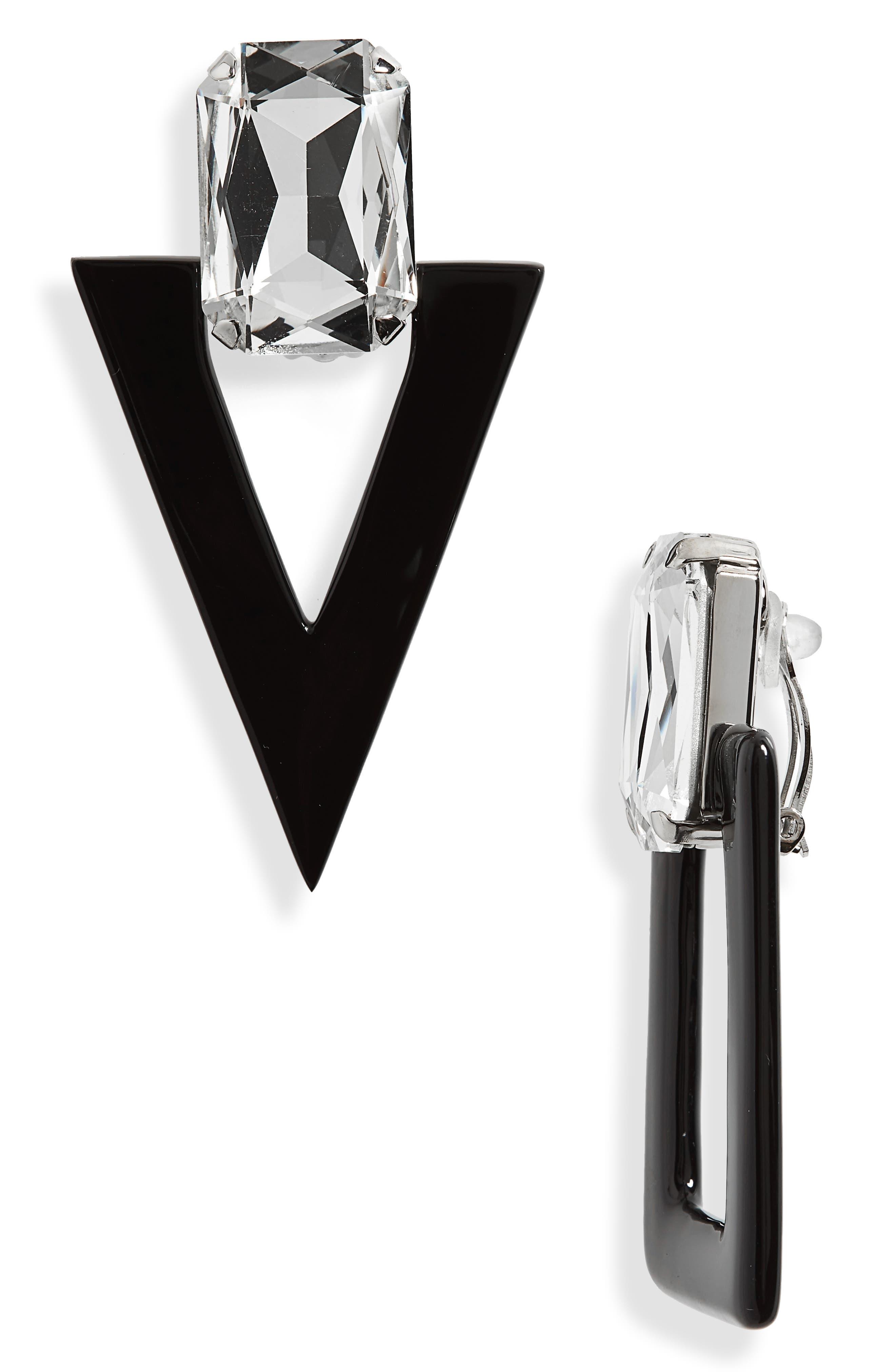 Alternate Image 2  - Saint Laurent Mismatched Geometric Earrings