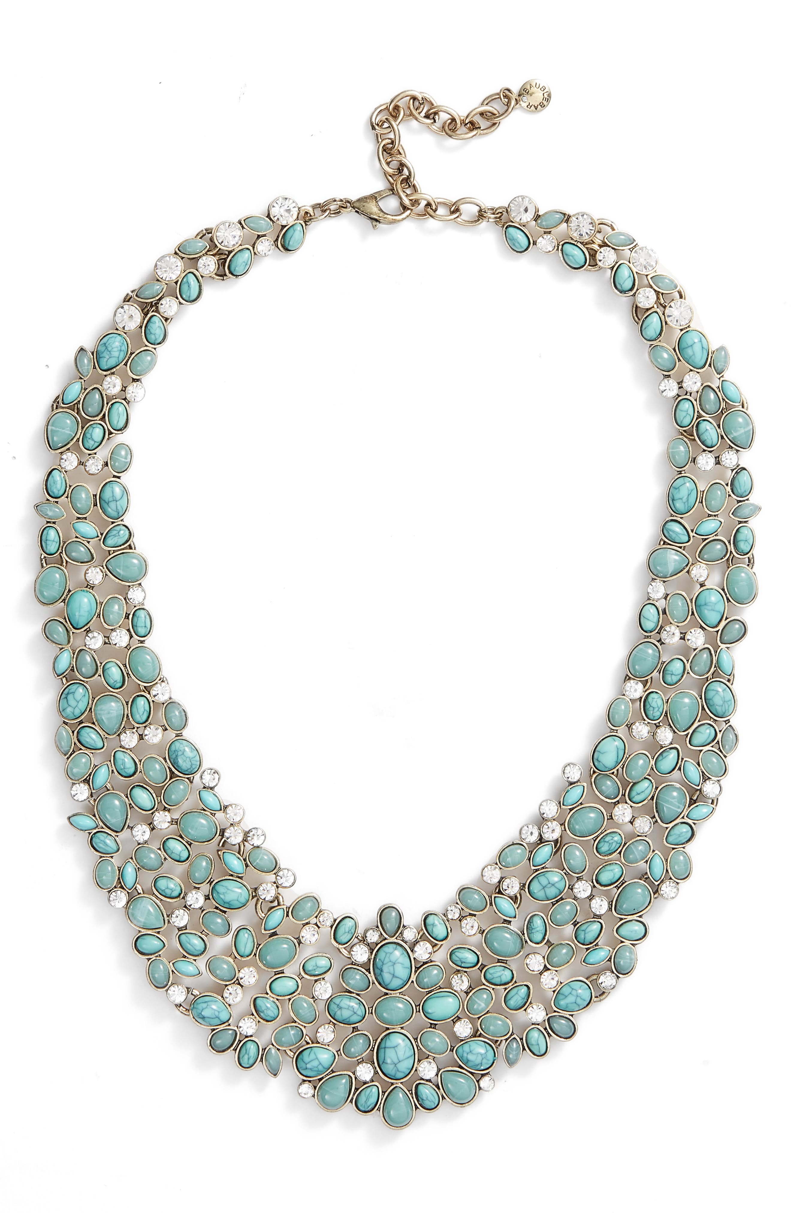 'Kew' Crystal Collar Necklace,                         Main,                         color, Turquoise