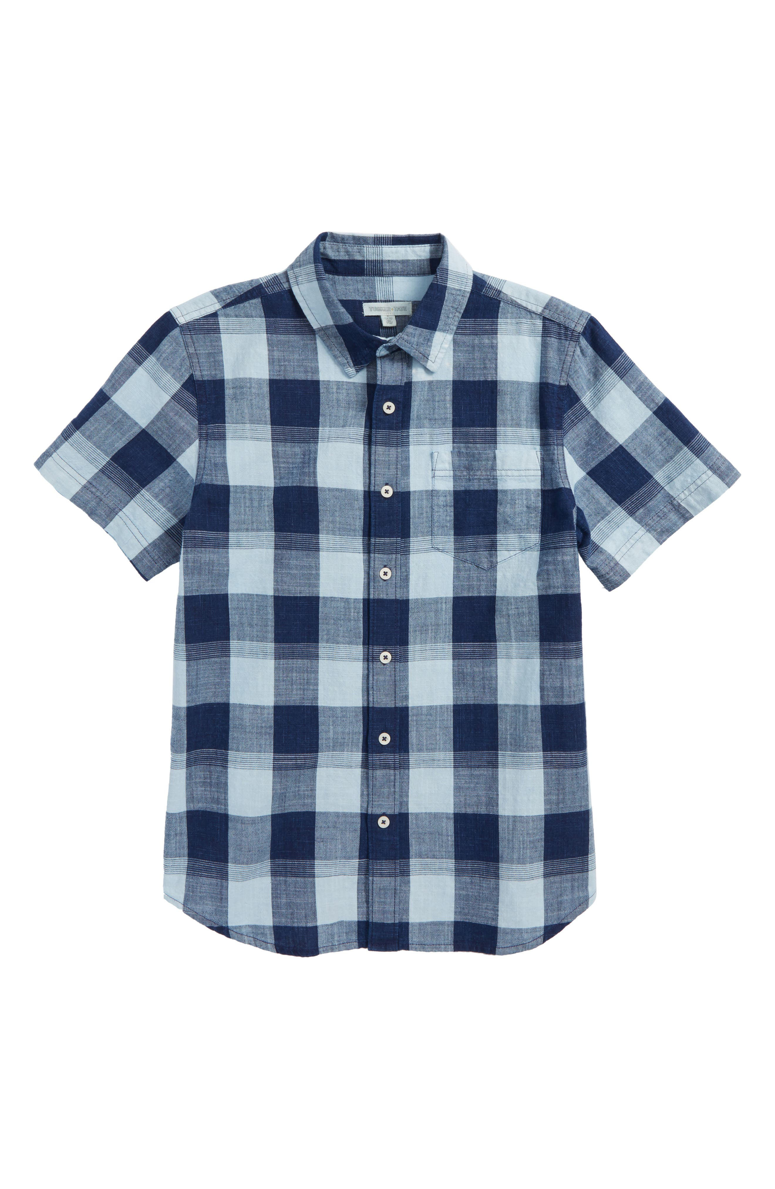Tucker + Tate Check Woven Shirt (Big Boys)