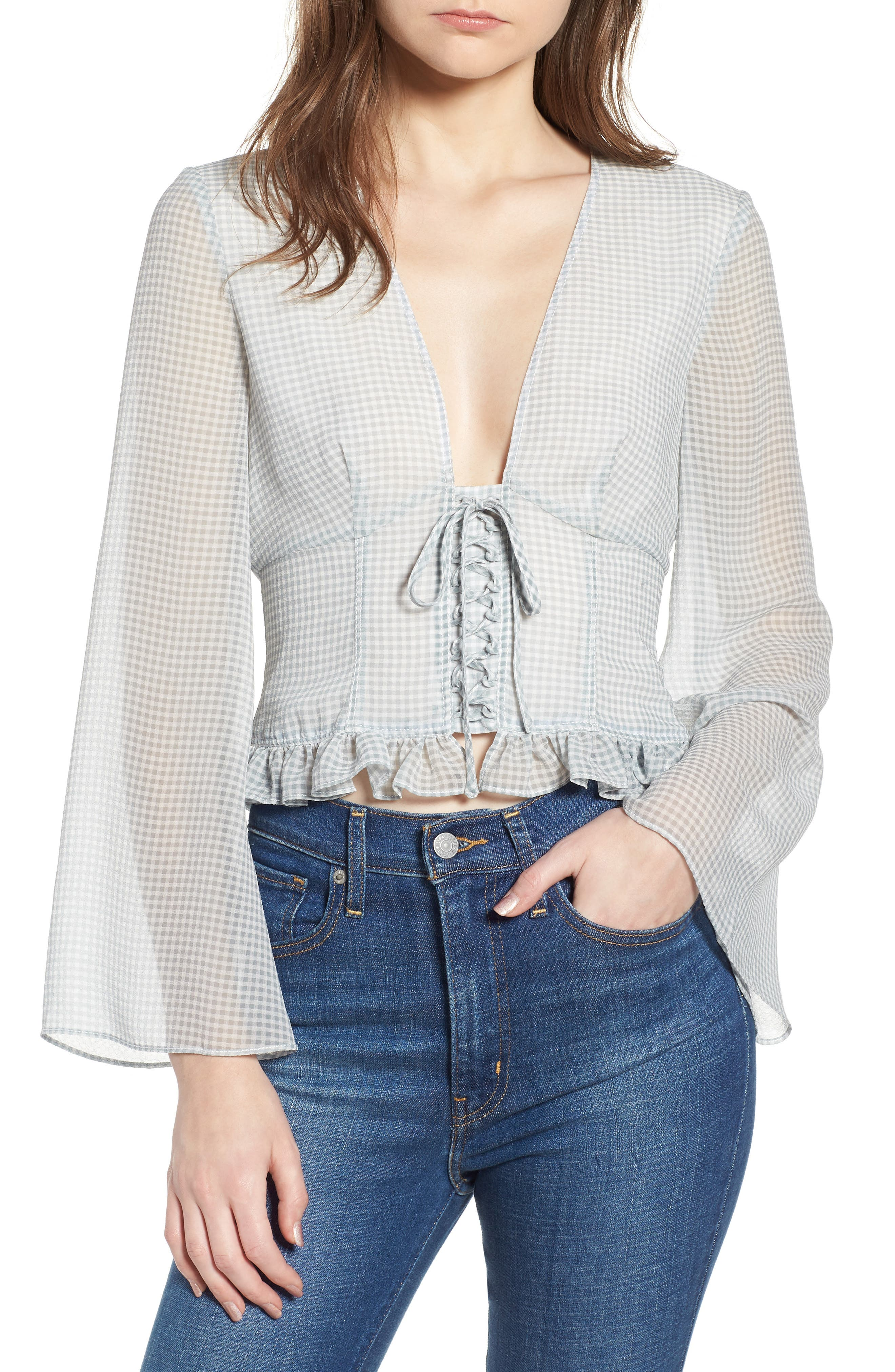 Willa Top,                         Main,                         color, June Bug Check