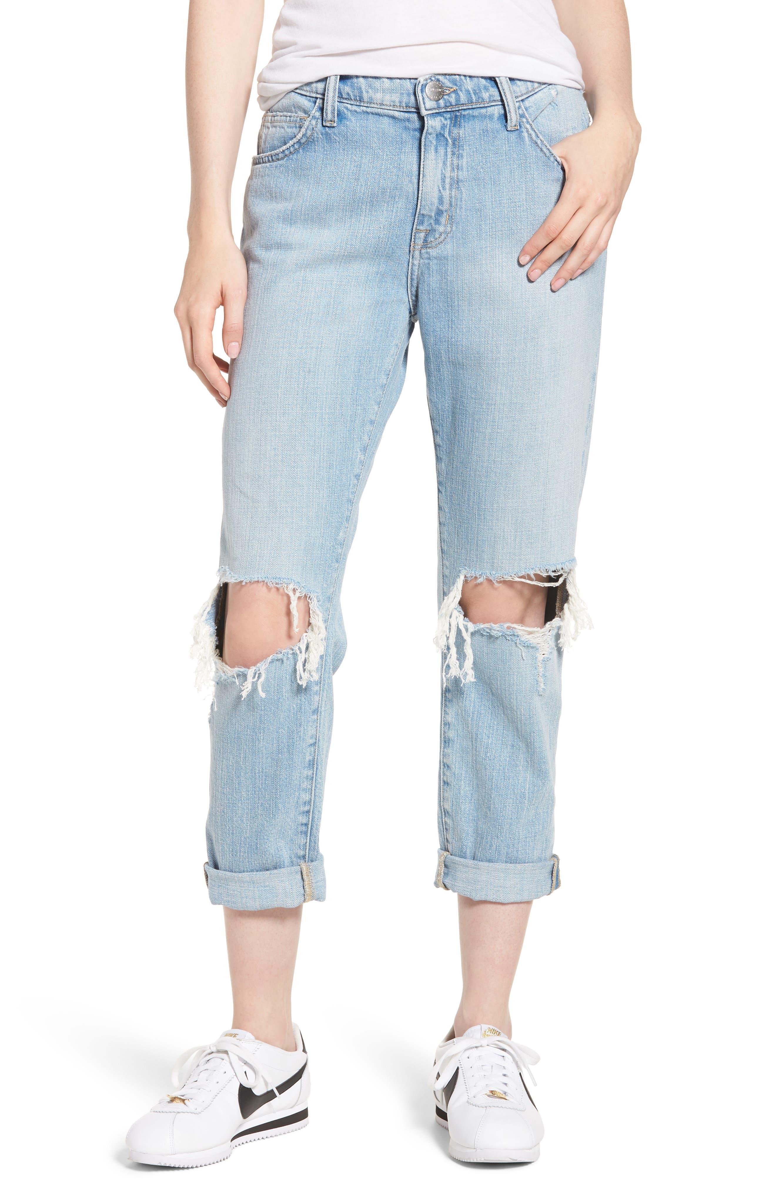 The Fling Ripped Boyfriend Jeans,                         Main,                         color, Nova