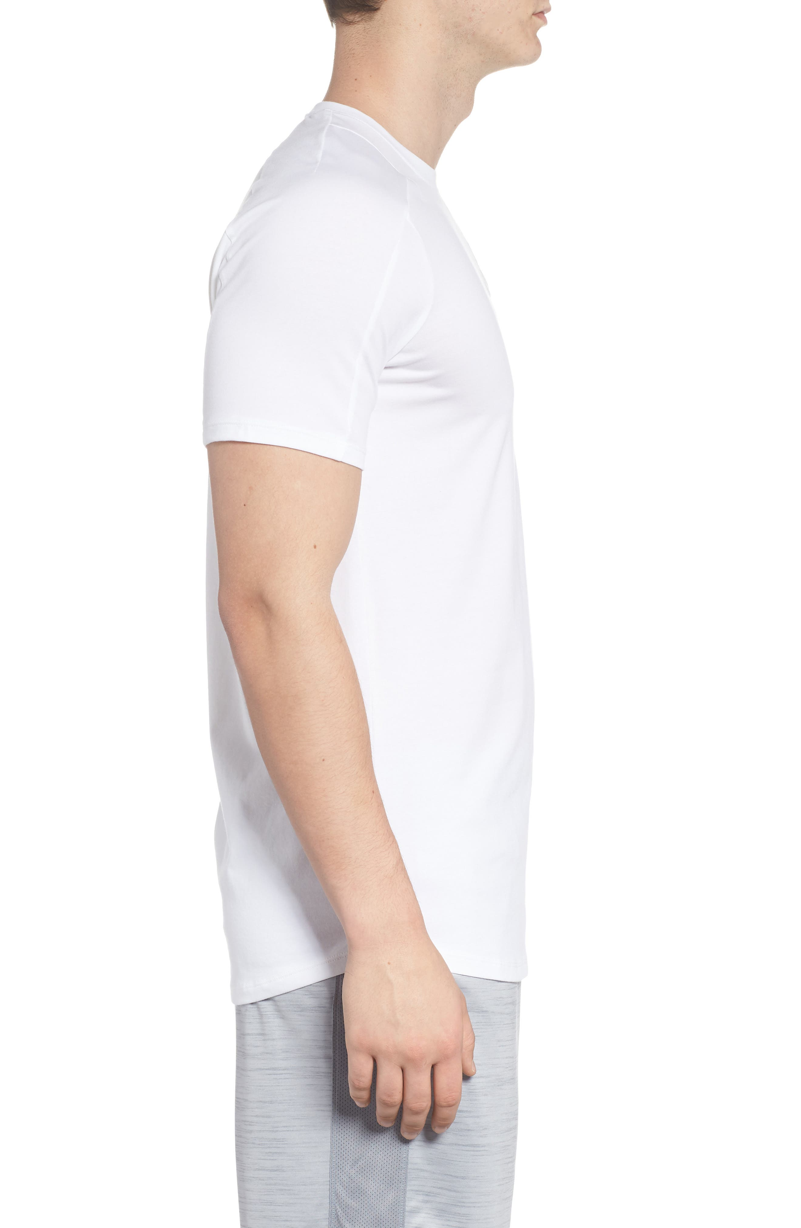 Perpetual Crewneck T-Shirt,                             Alternate thumbnail 3, color,                             White/ White
