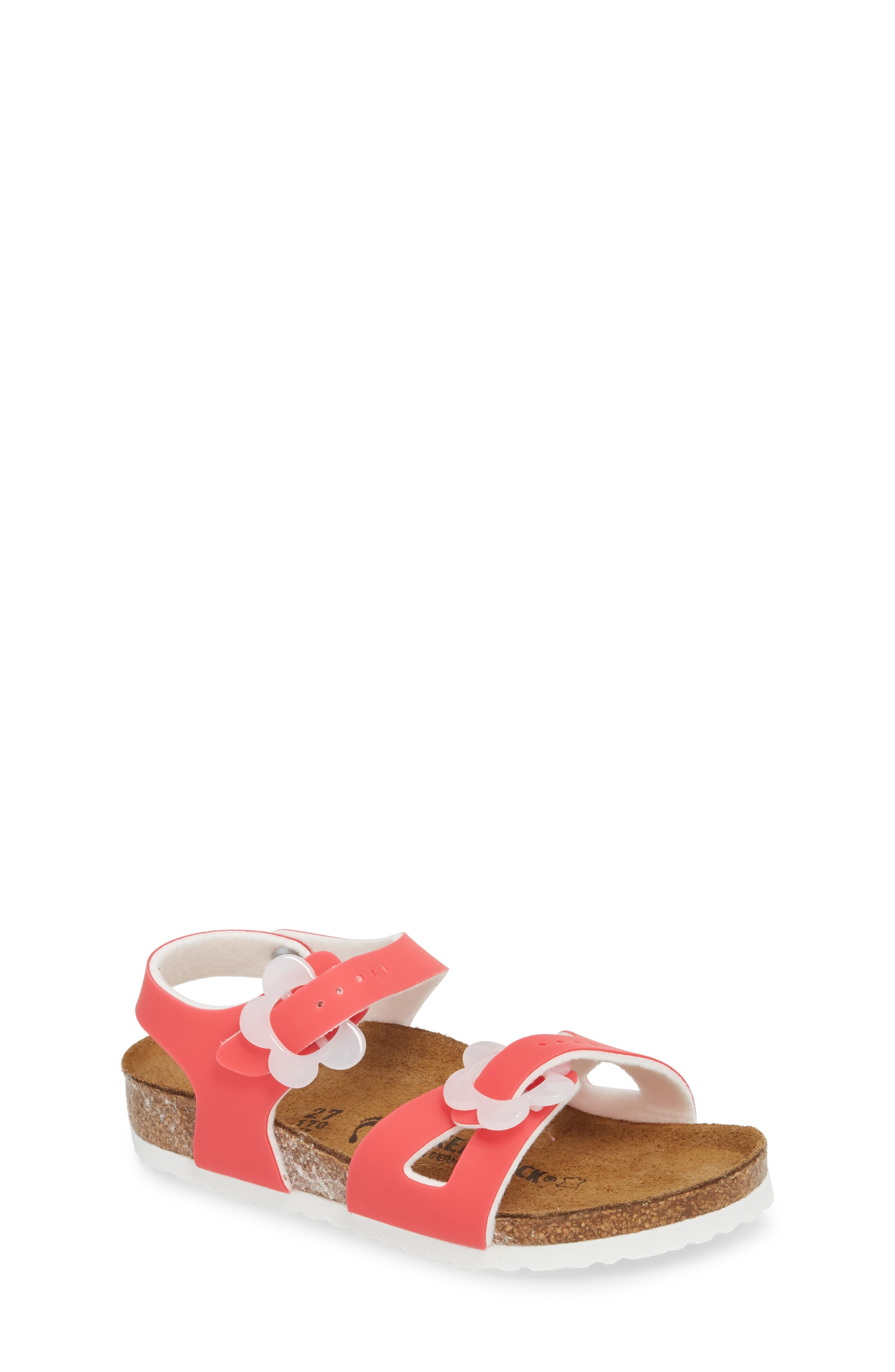 Rio Flowered Sandal,                         Main,                         color, Candy Pink