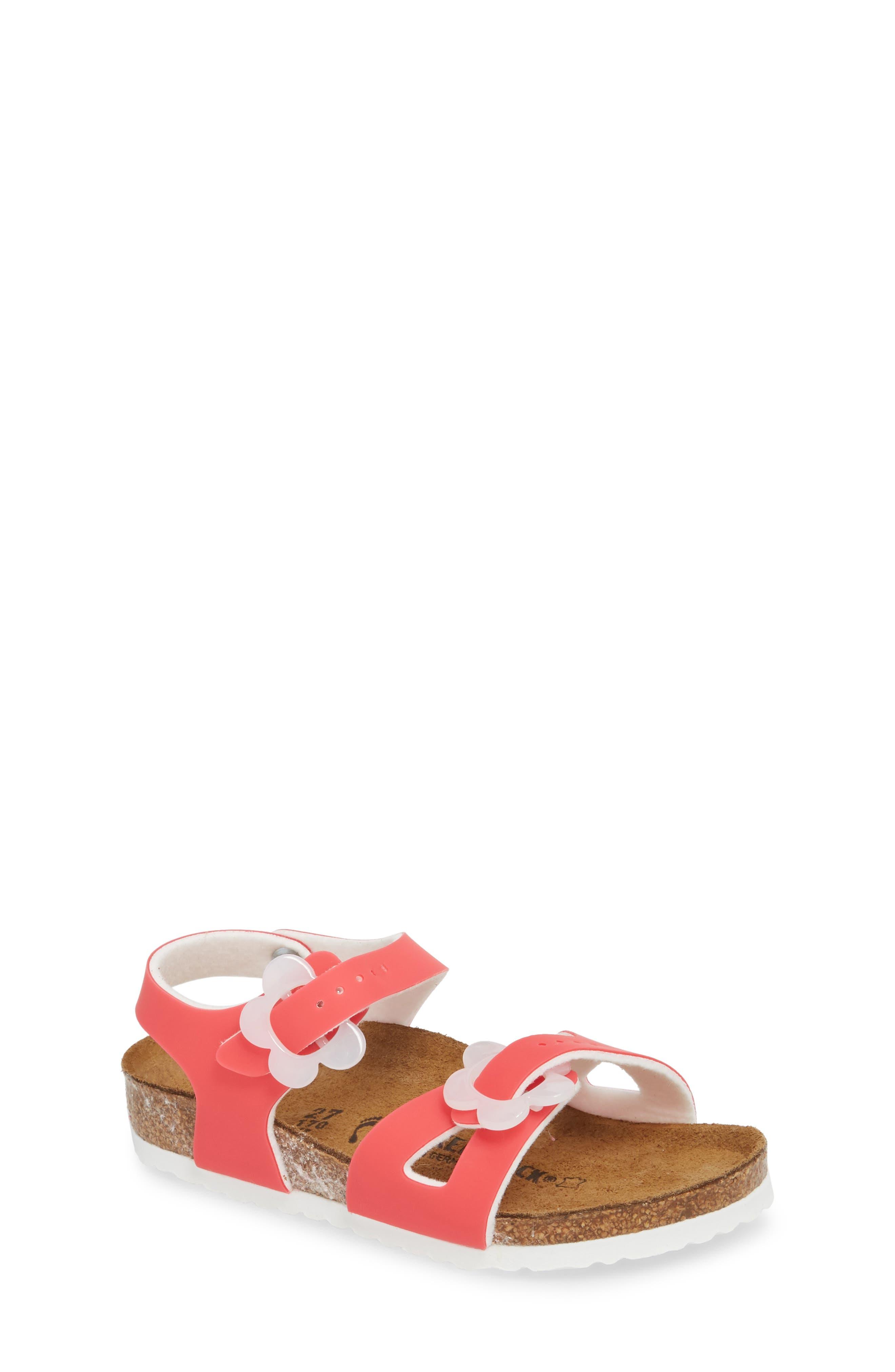Birkenstock Rio Flowered Sandal (Toddler)