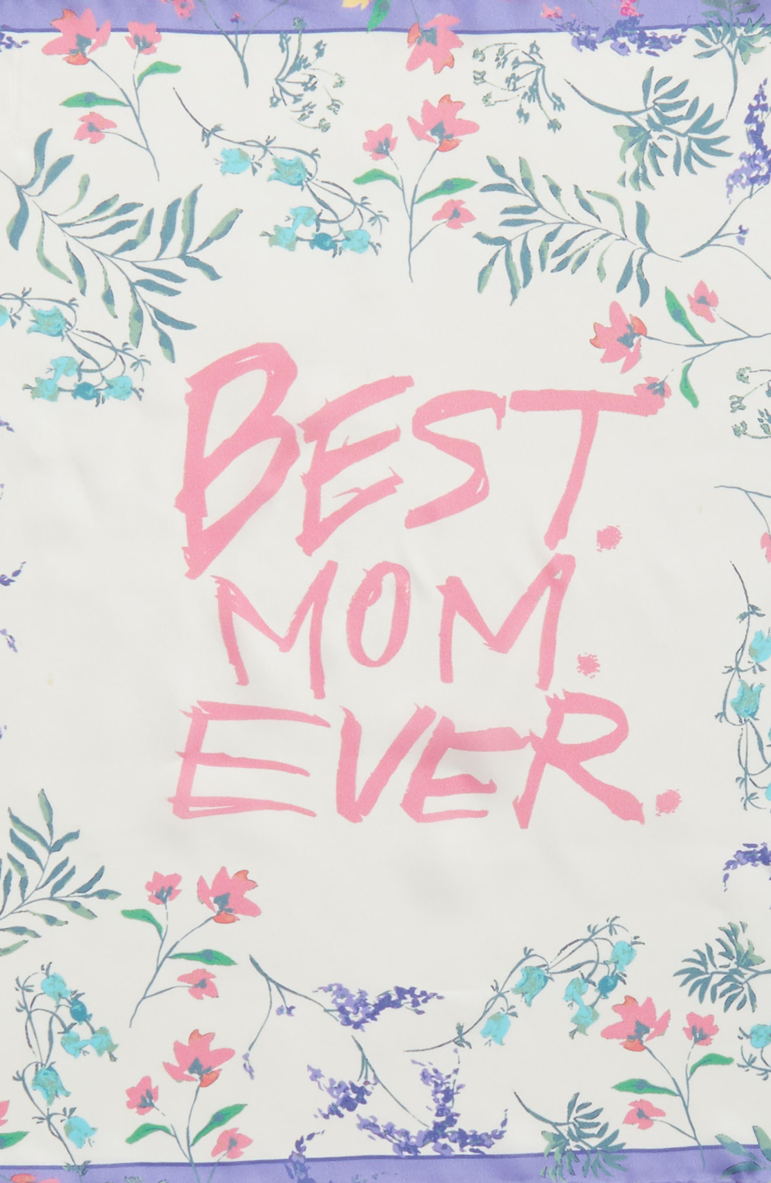 Mothers Day Silk Bandana,                             Alternate thumbnail 4, color,                             White