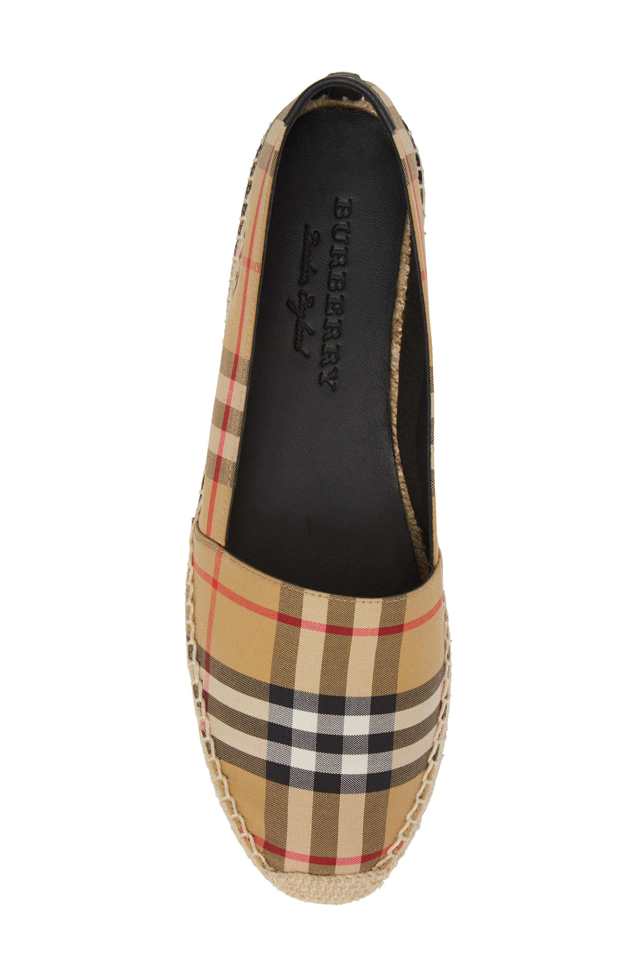 Hodgeson Check Espadrille Flat,                             Alternate thumbnail 5, color,                             Yellow