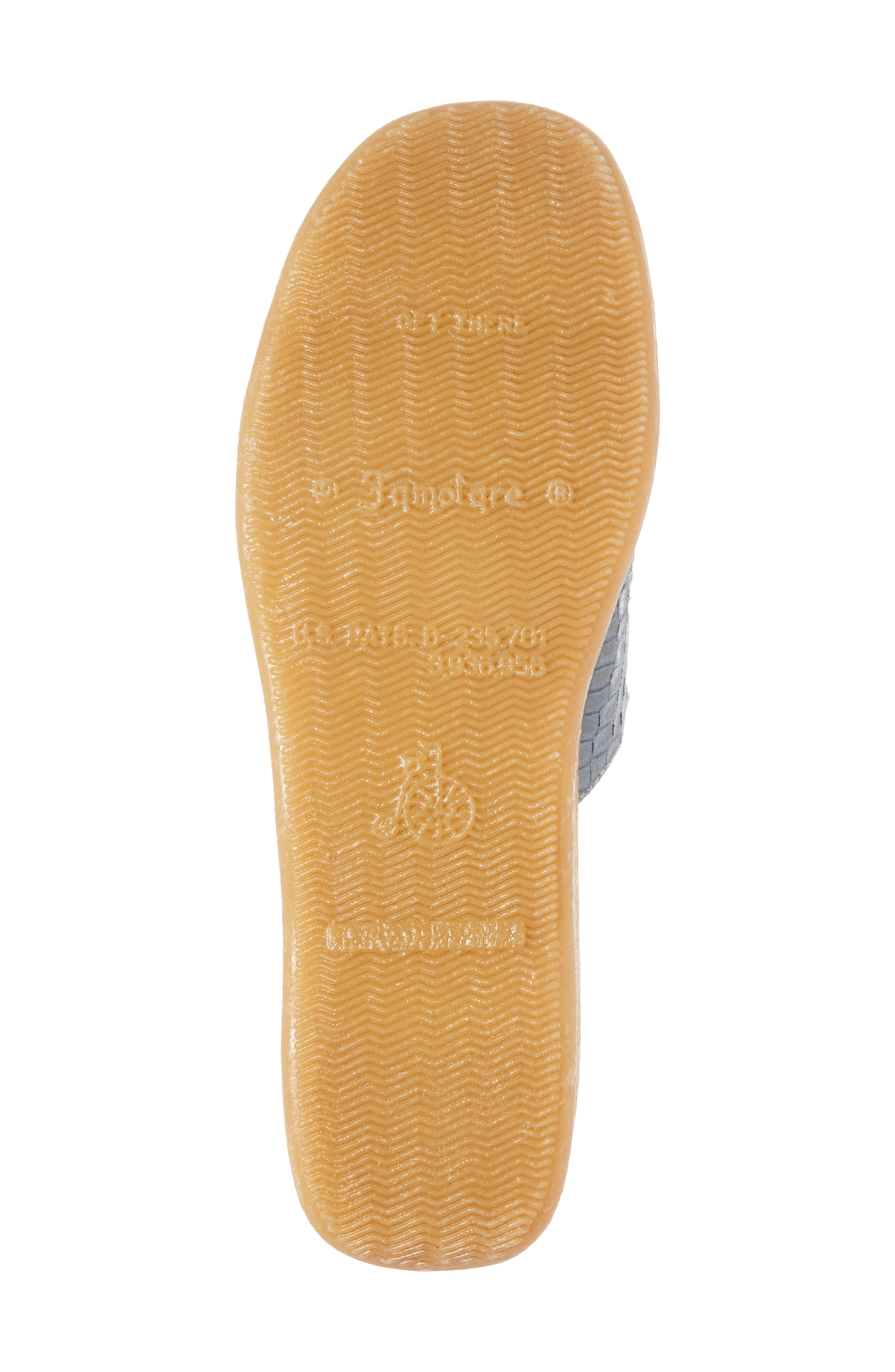 Slide N Sleek Wedge Slide Sandal,                             Alternate thumbnail 6, color,                             Aqua Croc Printed Leather