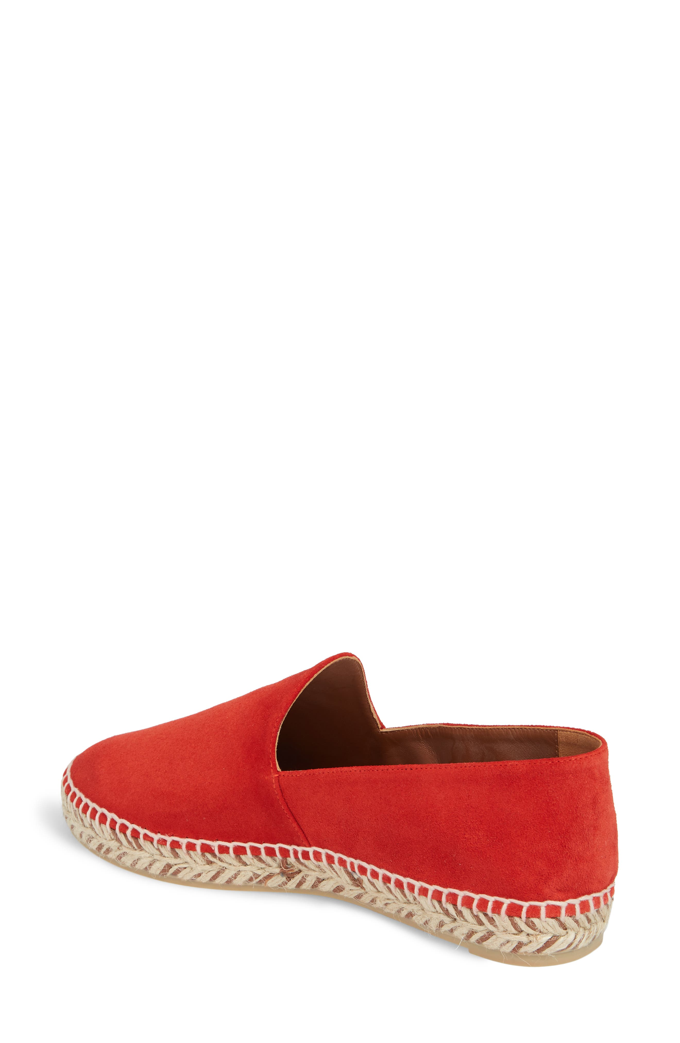 Haddie Espadrille Loafer,                             Alternate thumbnail 2, color,                             Red Suede