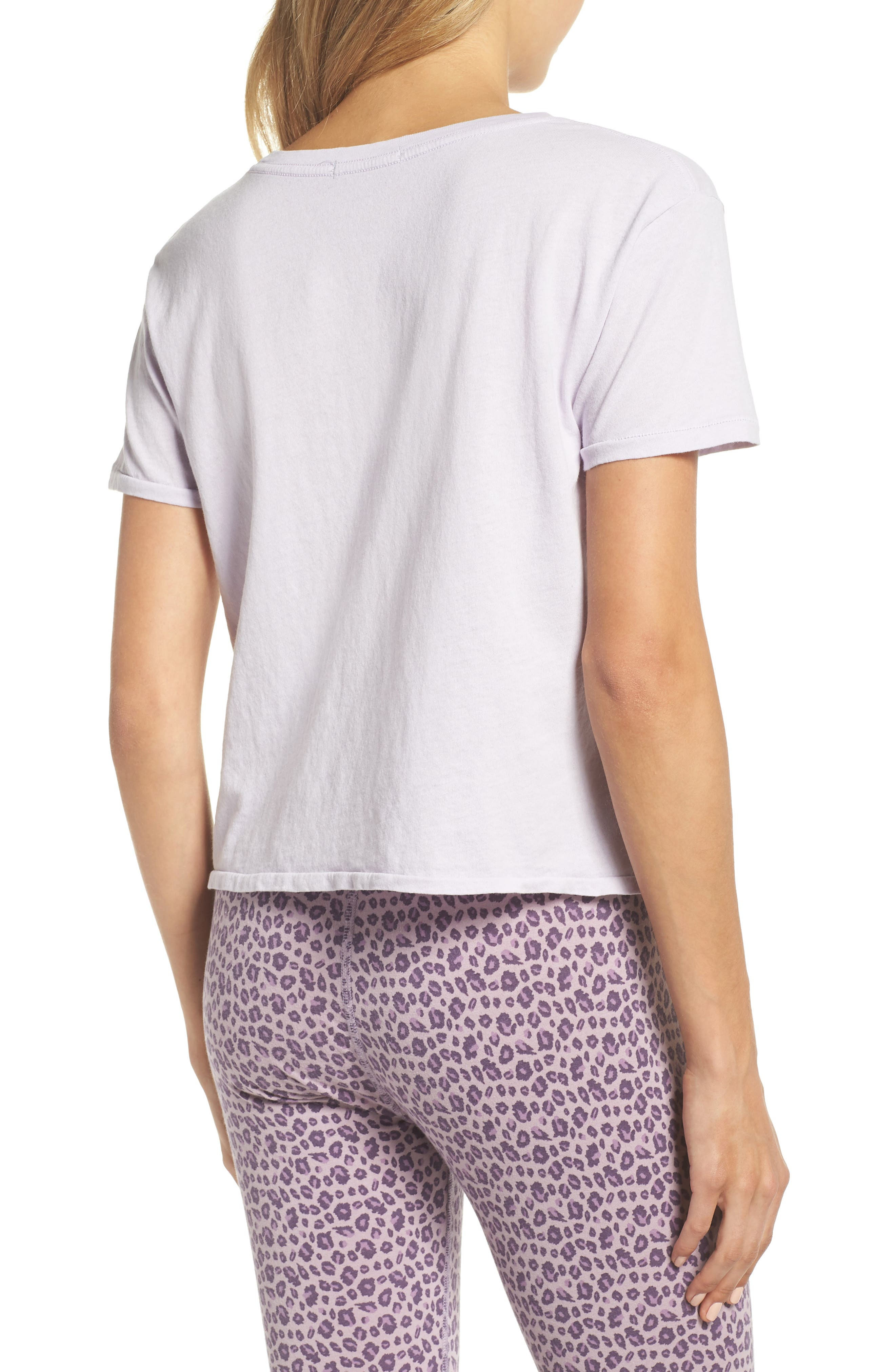 Crop Tee,                             Alternate thumbnail 2, color,                             Lilac