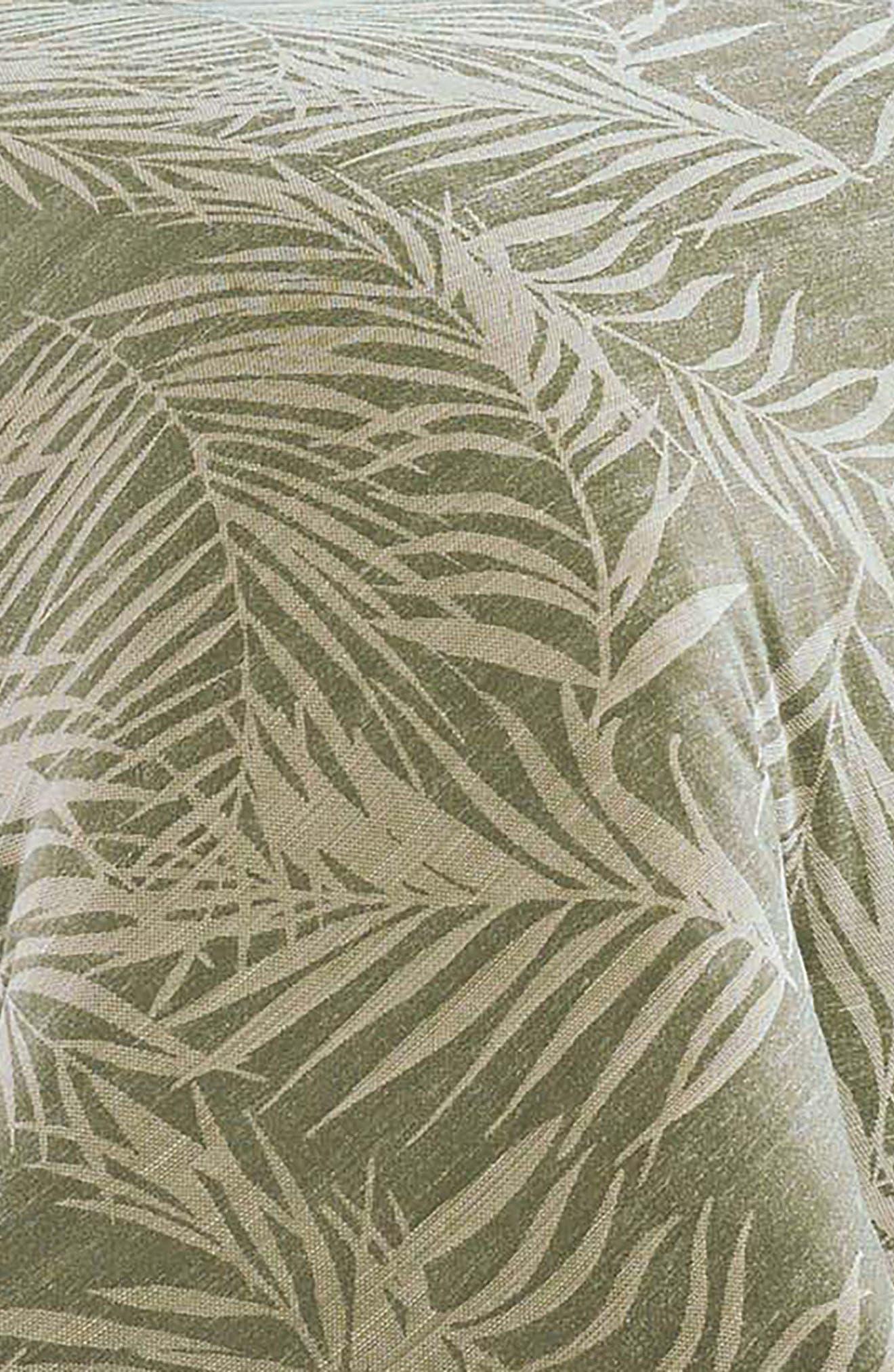 Palms Away Duvet Cover & Sham Set,                             Alternate thumbnail 2, color,                             Medium Green