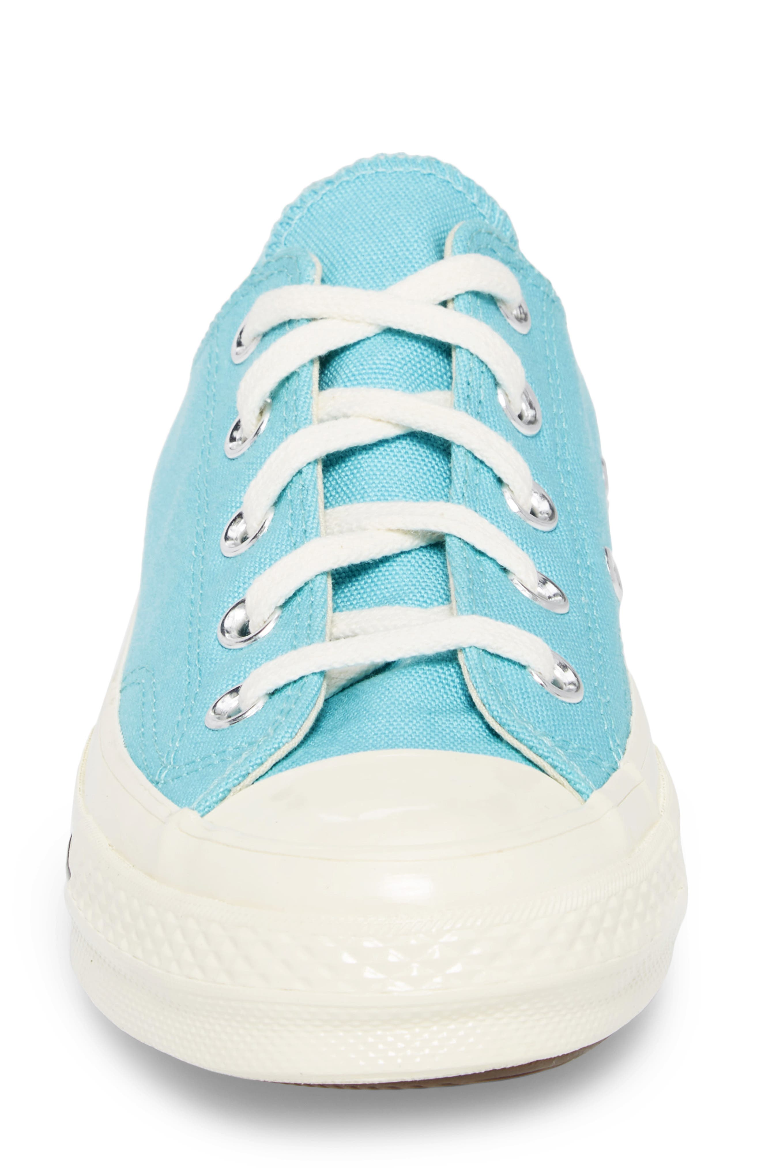 Chuck Taylor<sup>®</sup> All Star<sup>®</sup> '70s Brights Low Top Sneaker,                             Alternate thumbnail 4, color,                             Bleached Aqua