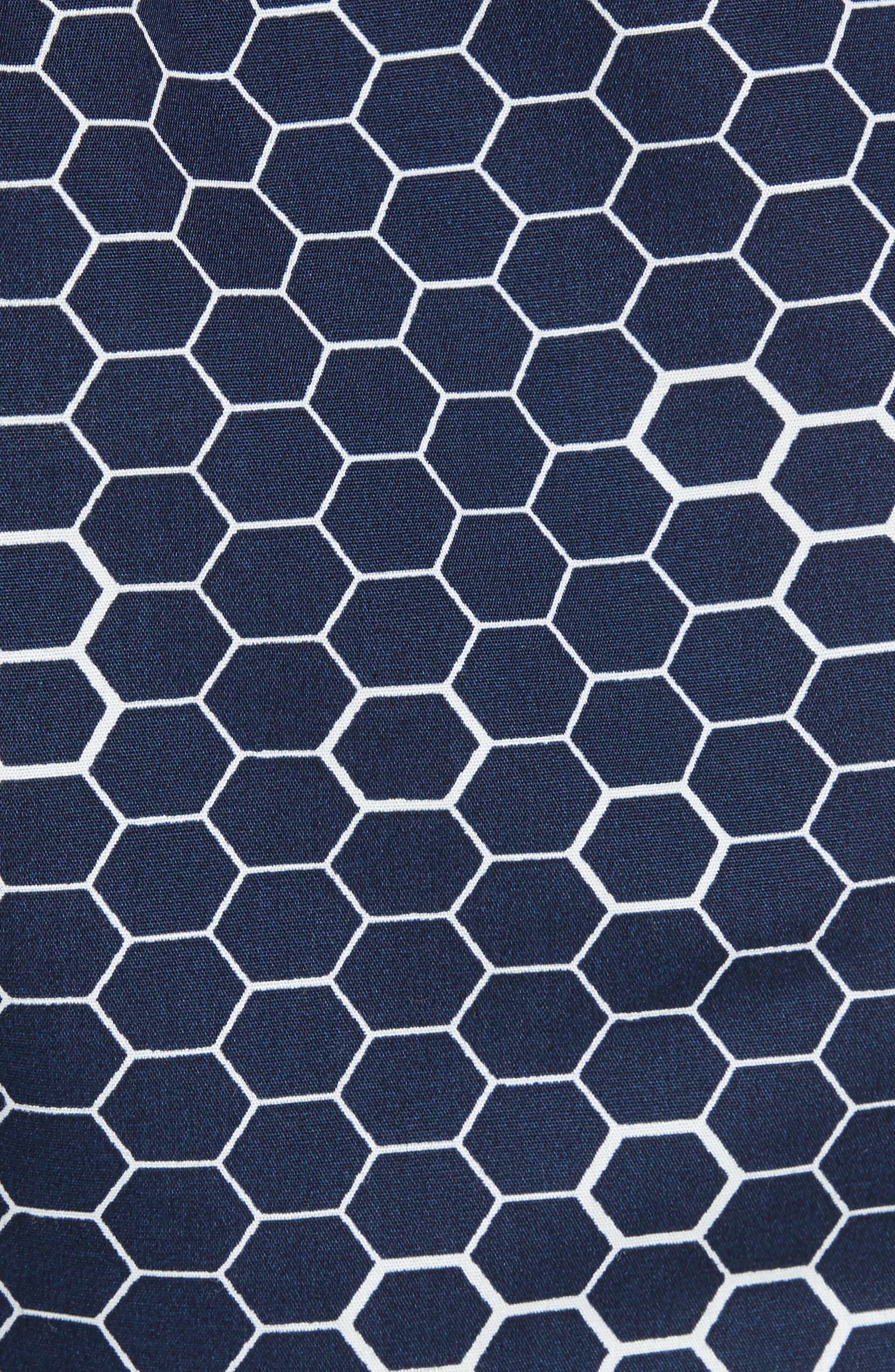 Honeycomb Cotton Boxers,                             Alternate thumbnail 5, color,                             Blue