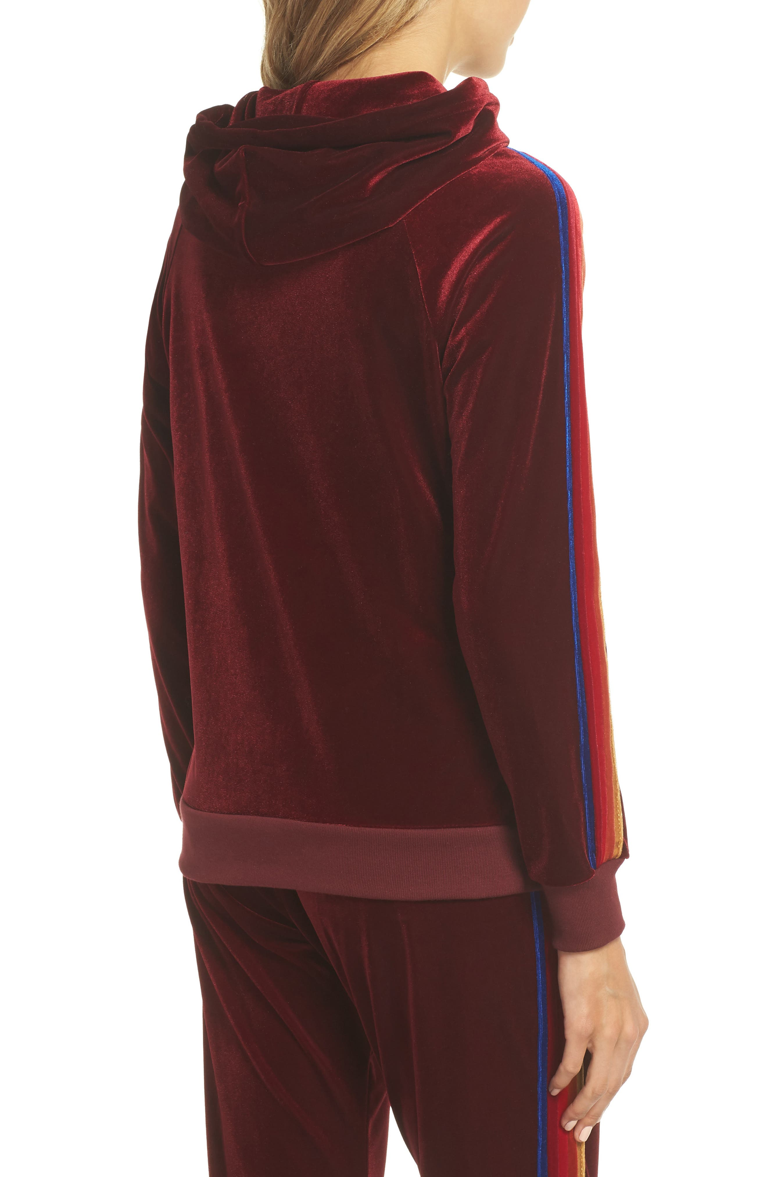 Classic Velvet Hoodie,                             Alternate thumbnail 2, color,                             Wine