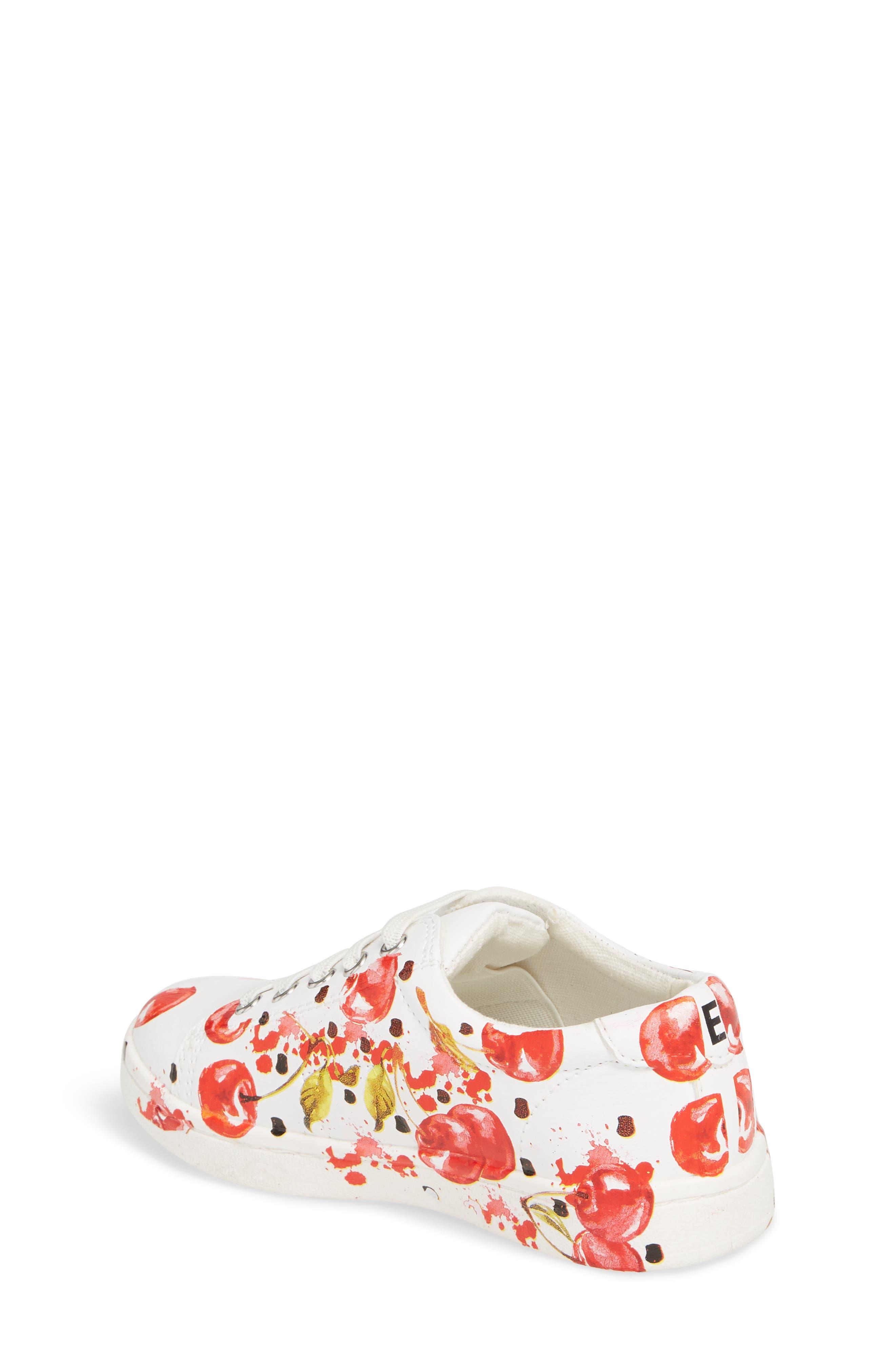 Blane Milford Fruit Print Sneaker,                             Alternate thumbnail 2, color,                             White/ Cherry Faux Leather
