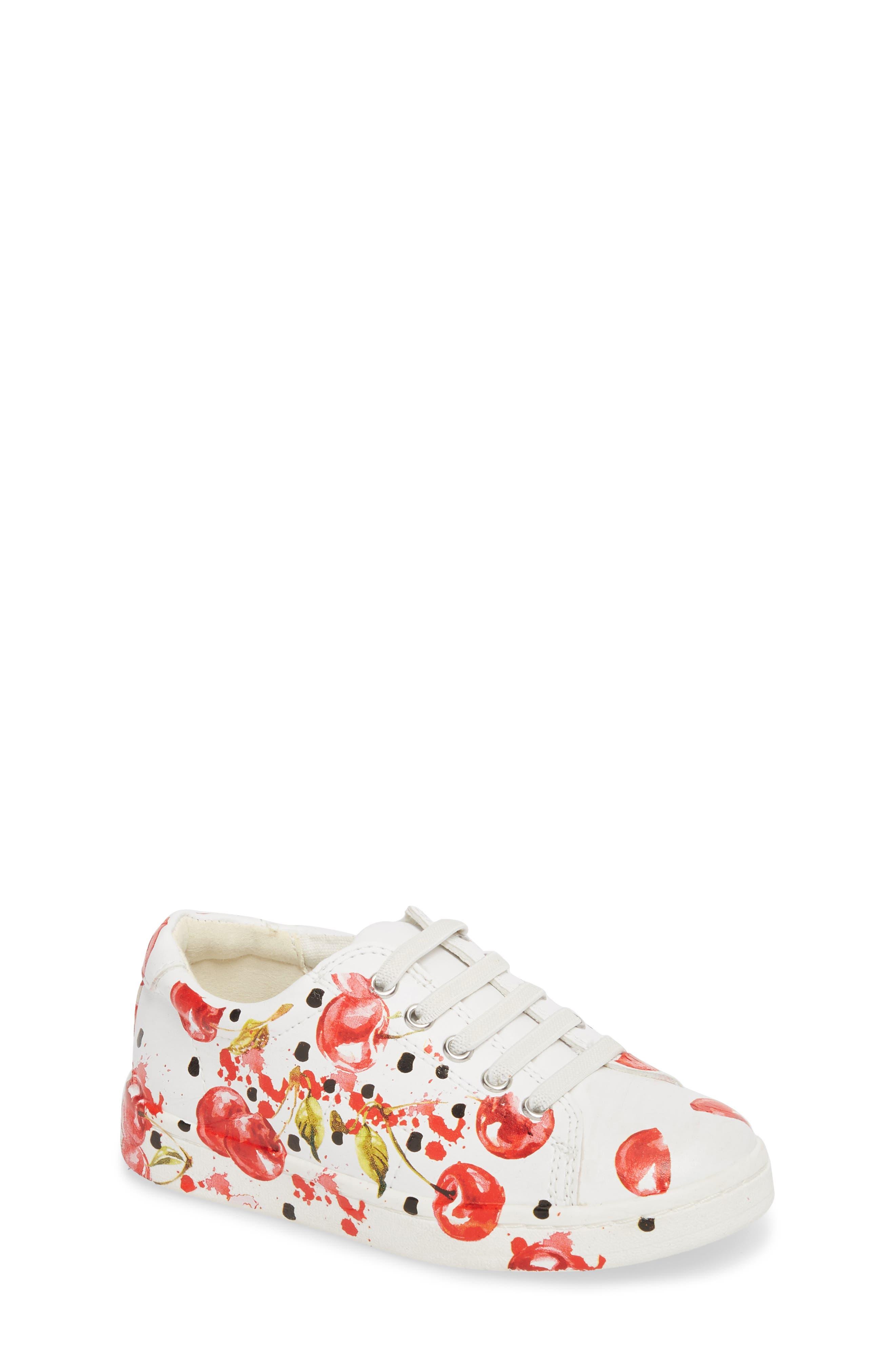 Blane Milford Fruit Print Sneaker,                             Main thumbnail 1, color,                             White/ Cherry Faux Leather