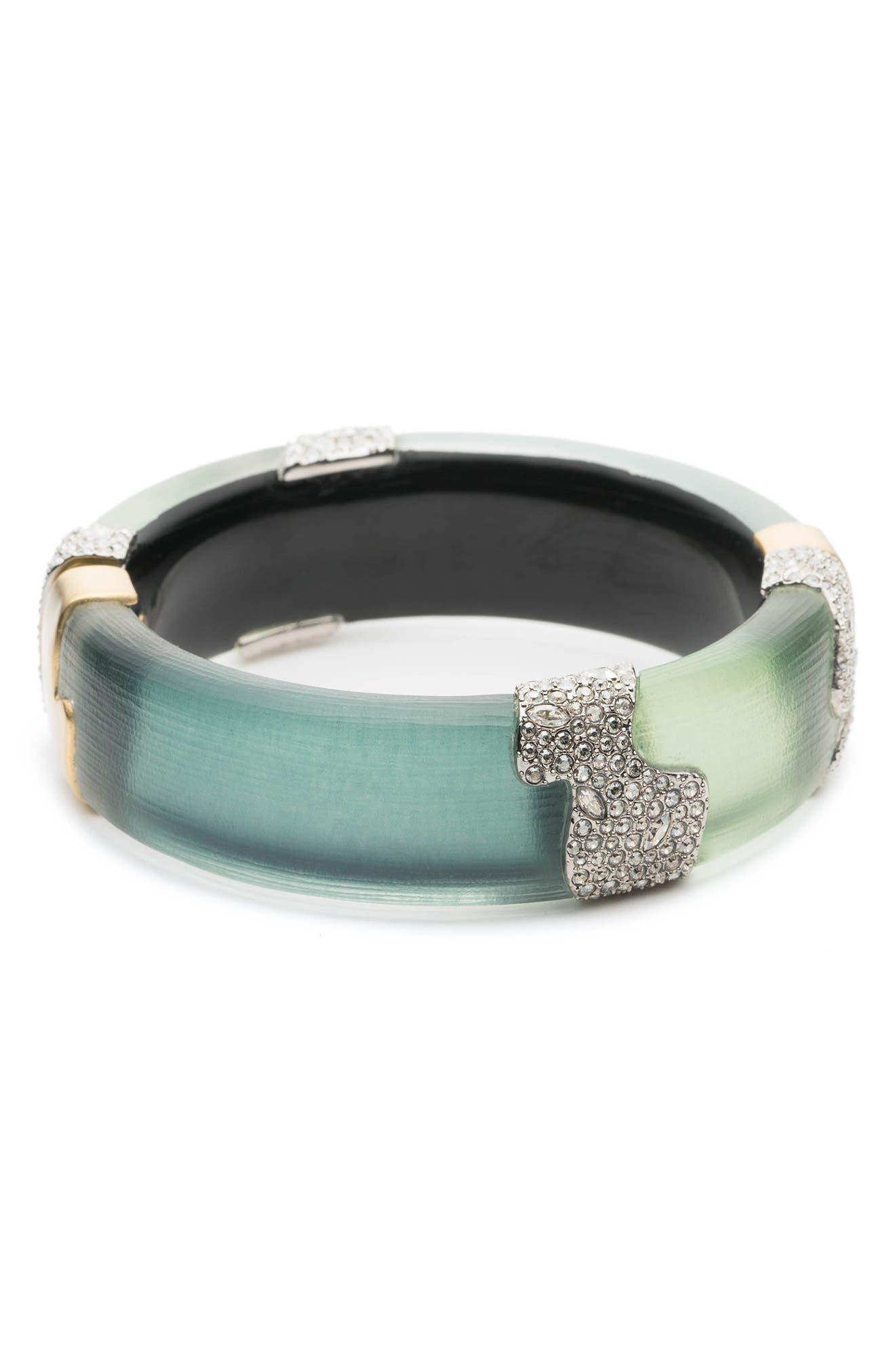 Crystal Encrusted Colorblocked Bracelet,                         Main,                         color, Roxbury Mix