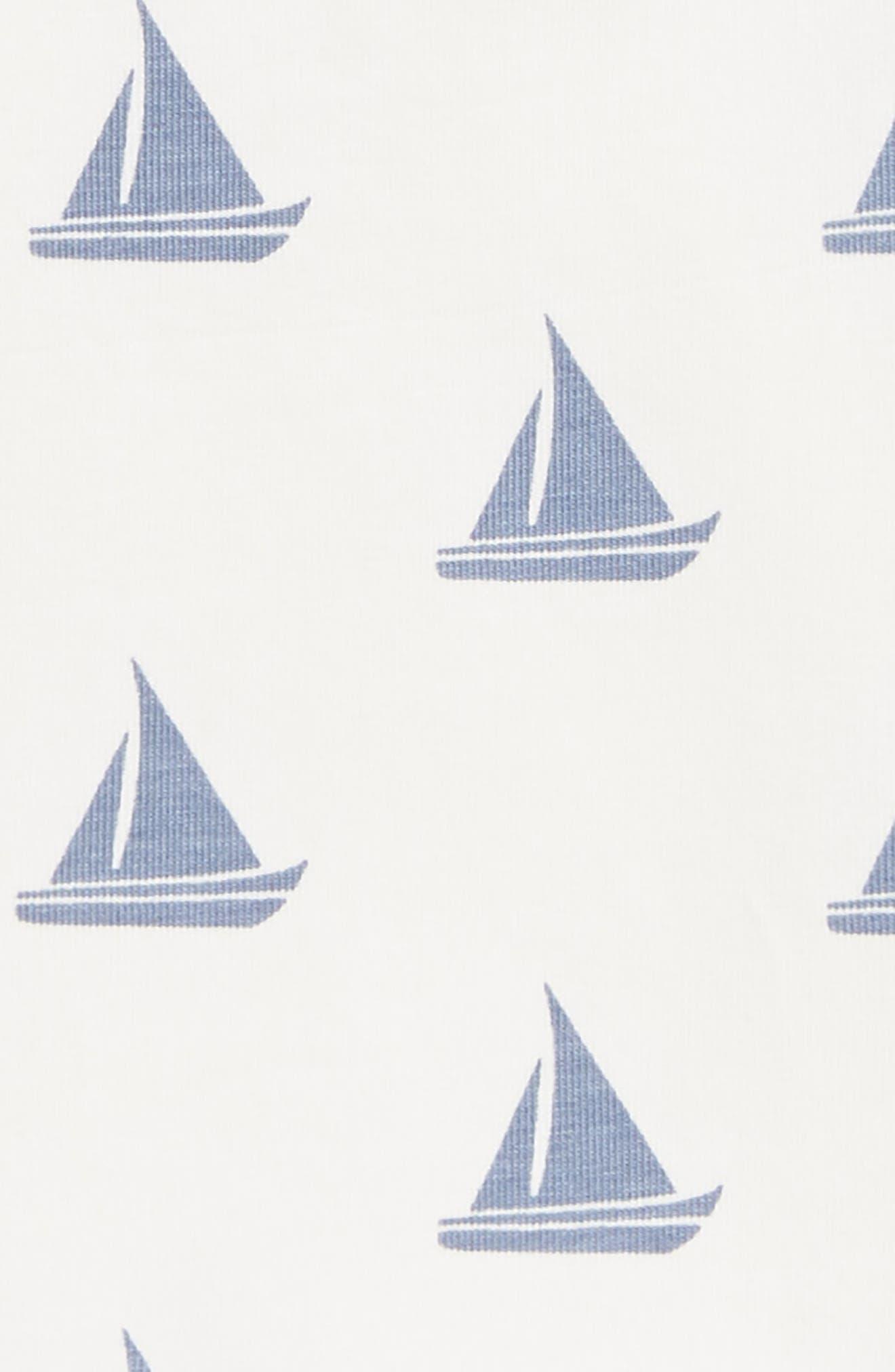 Sleeveless Romper,                             Alternate thumbnail 2, color,                             Come Sail Away