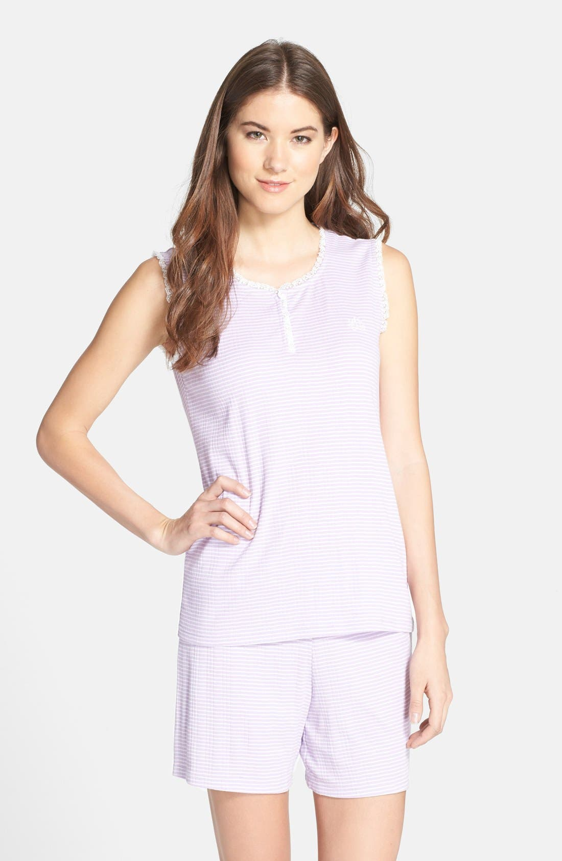Alternate Image 1 Selected - Lauren Ralph Lauren Knit Boxer Pajamas