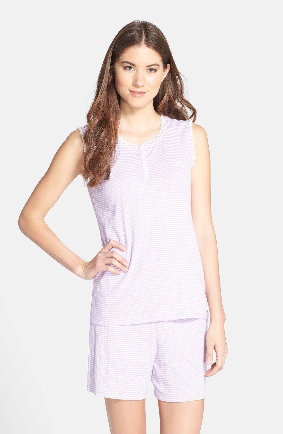 Main Image - Lauren Ralph Lauren Knit Boxer Pajamas