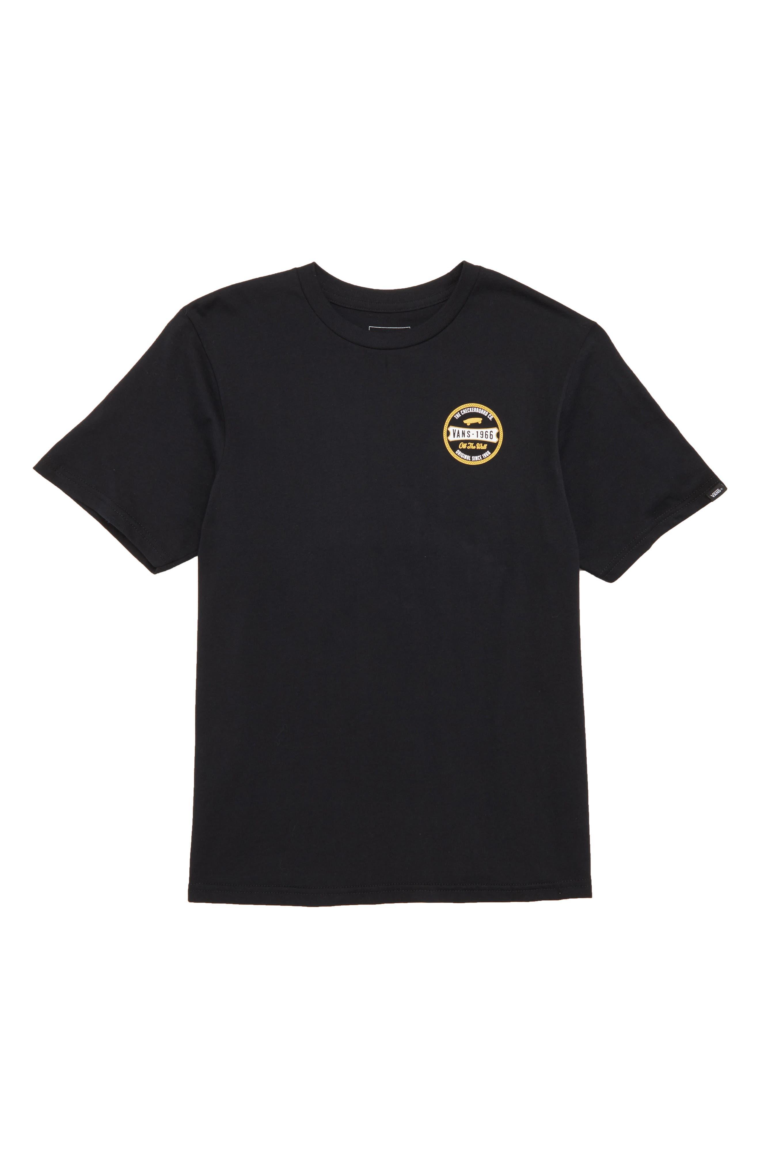 Checkerboard Co. Logo T-Shirt,                             Main thumbnail 1, color,                             Black
