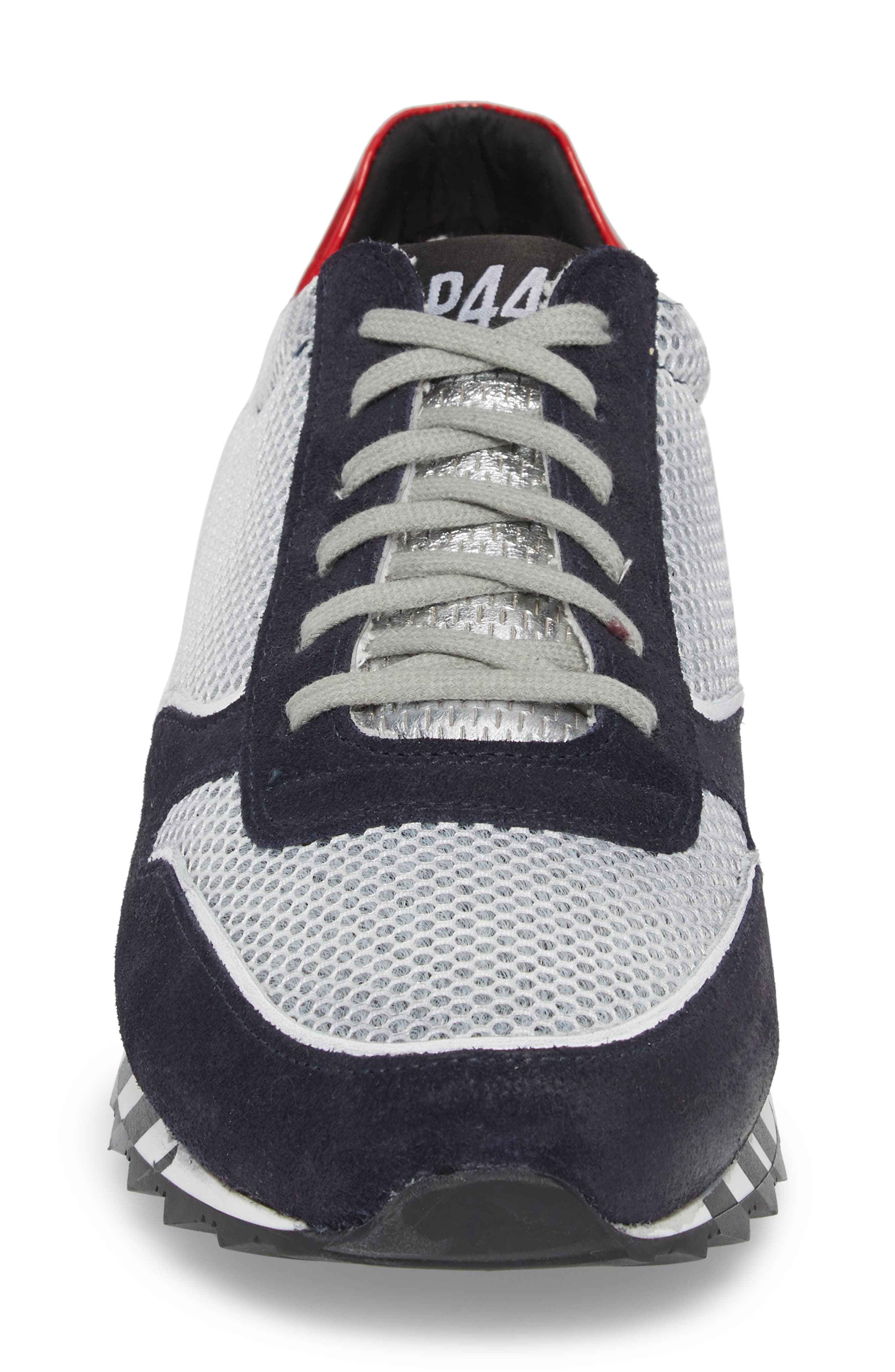Boston Low Top Sneaker,                             Alternate thumbnail 4, color,                             Sand Grey