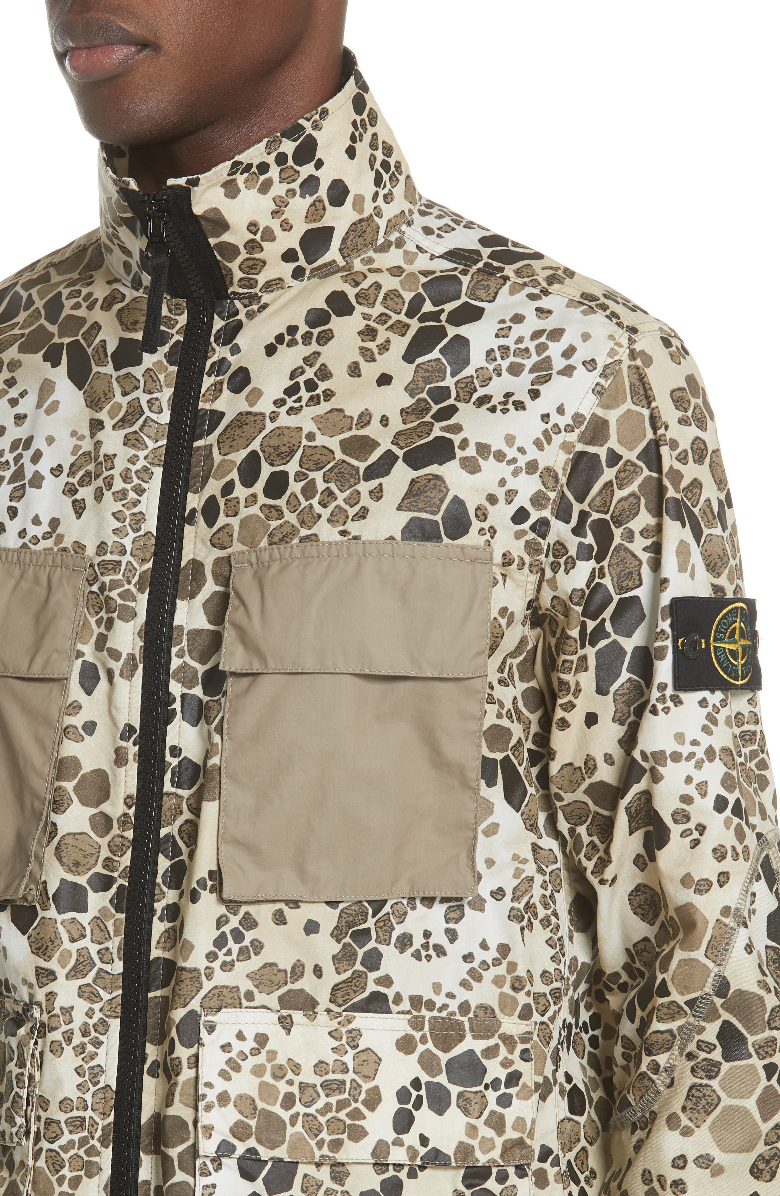 Camo Military Field Jacket,                             Alternate thumbnail 4, color,                             Brown