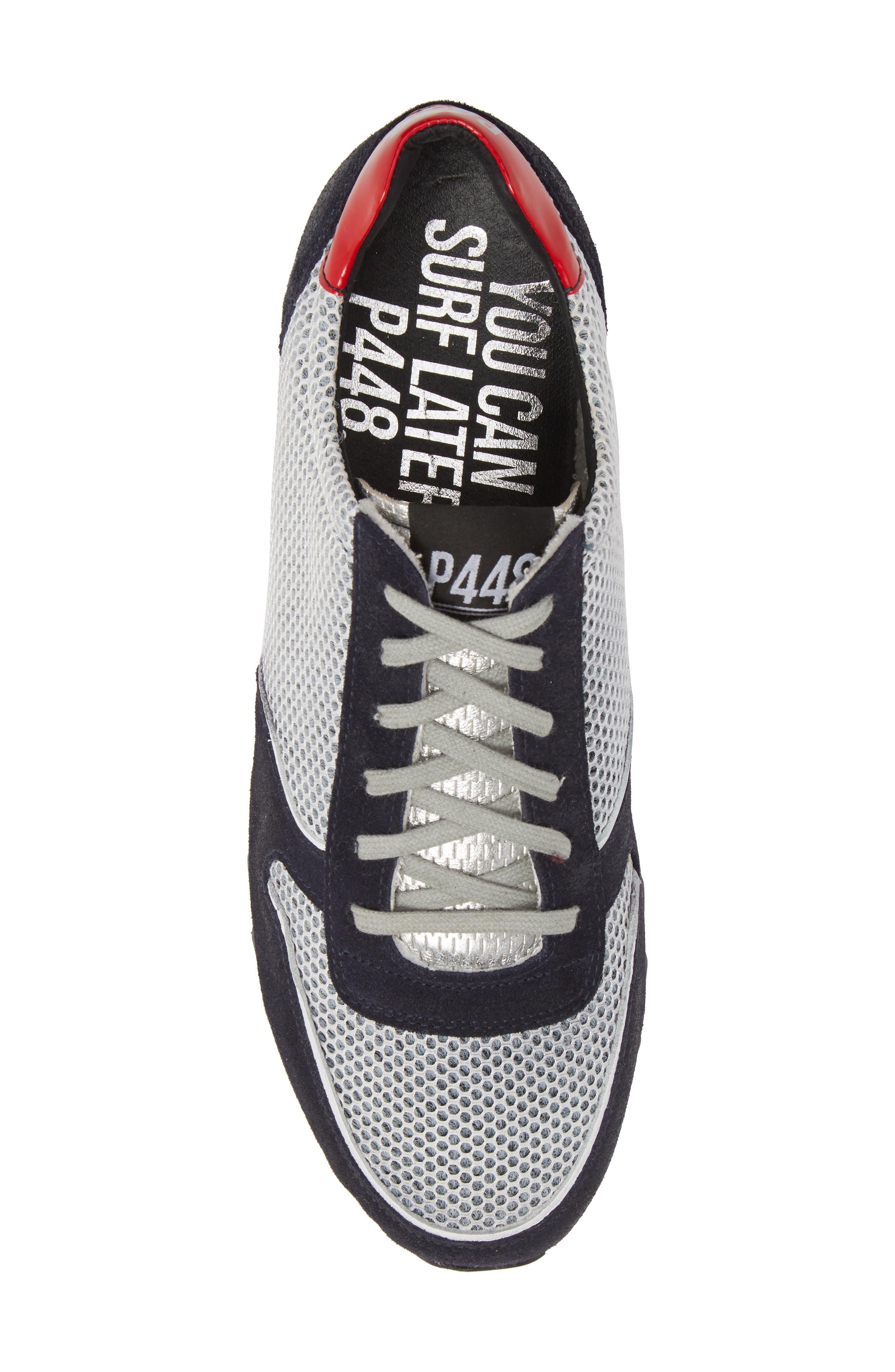 Boston Low Top Sneaker,                             Alternate thumbnail 5, color,                             Sand Grey