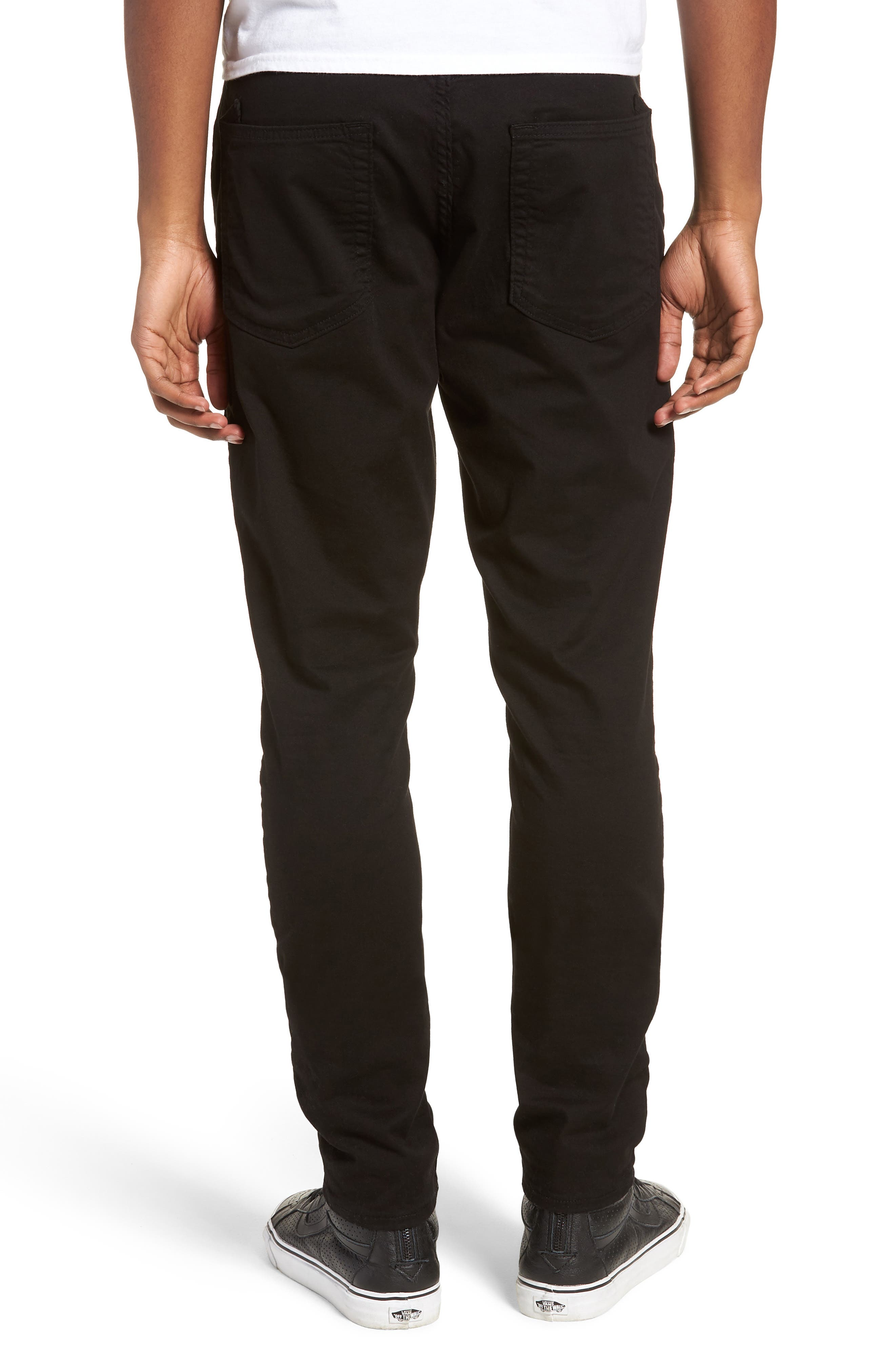 Le Sabre Slim Fit Jeans,                             Alternate thumbnail 2, color,                             Black