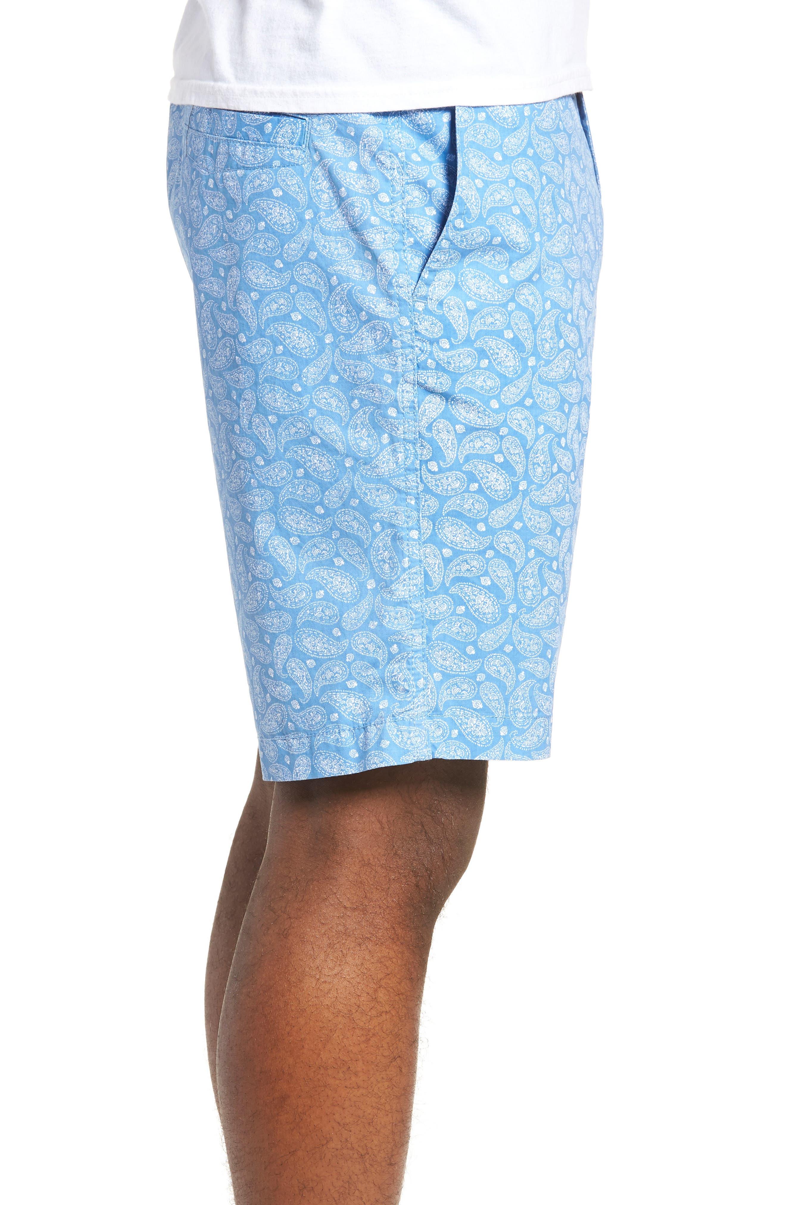 Bandana Paisley Print Shorts,                             Alternate thumbnail 3, color,                             Blue Lake Bandana Paisley