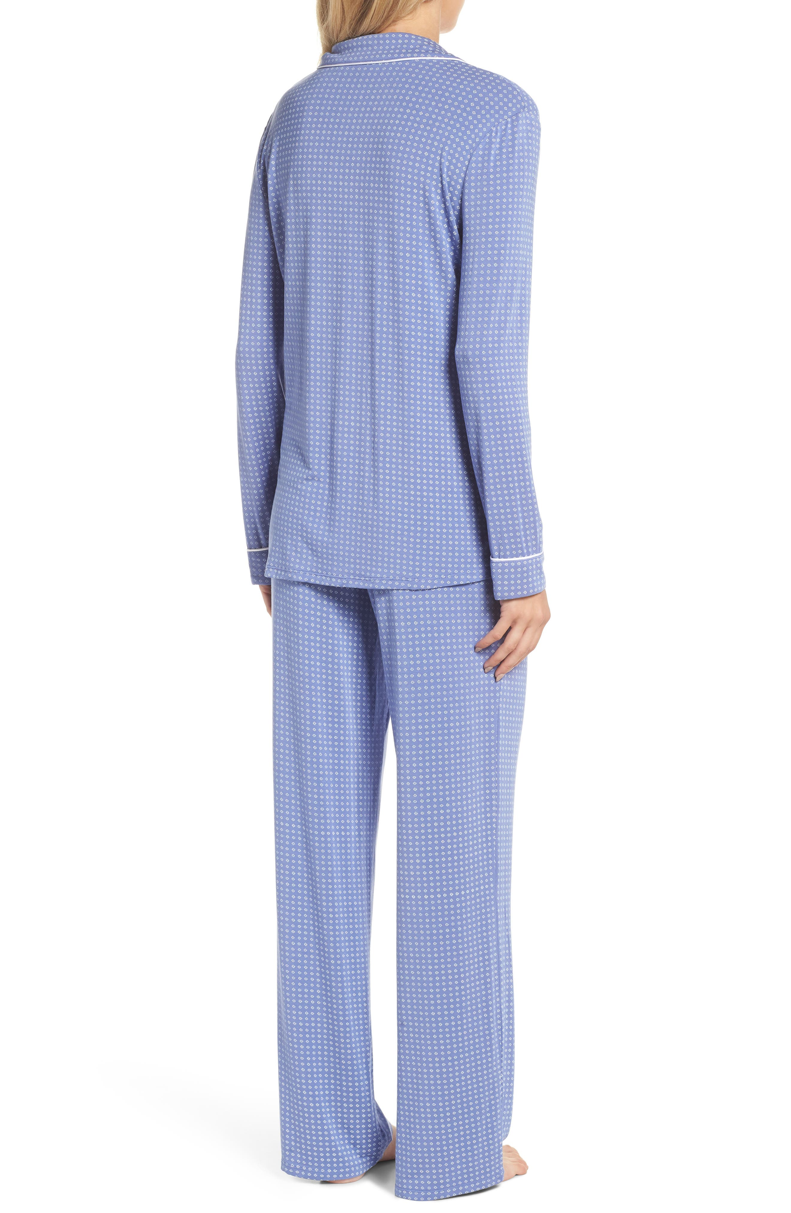 Moonlight Pajamas,                             Alternate thumbnail 2, color,                             Blue Denim Geo