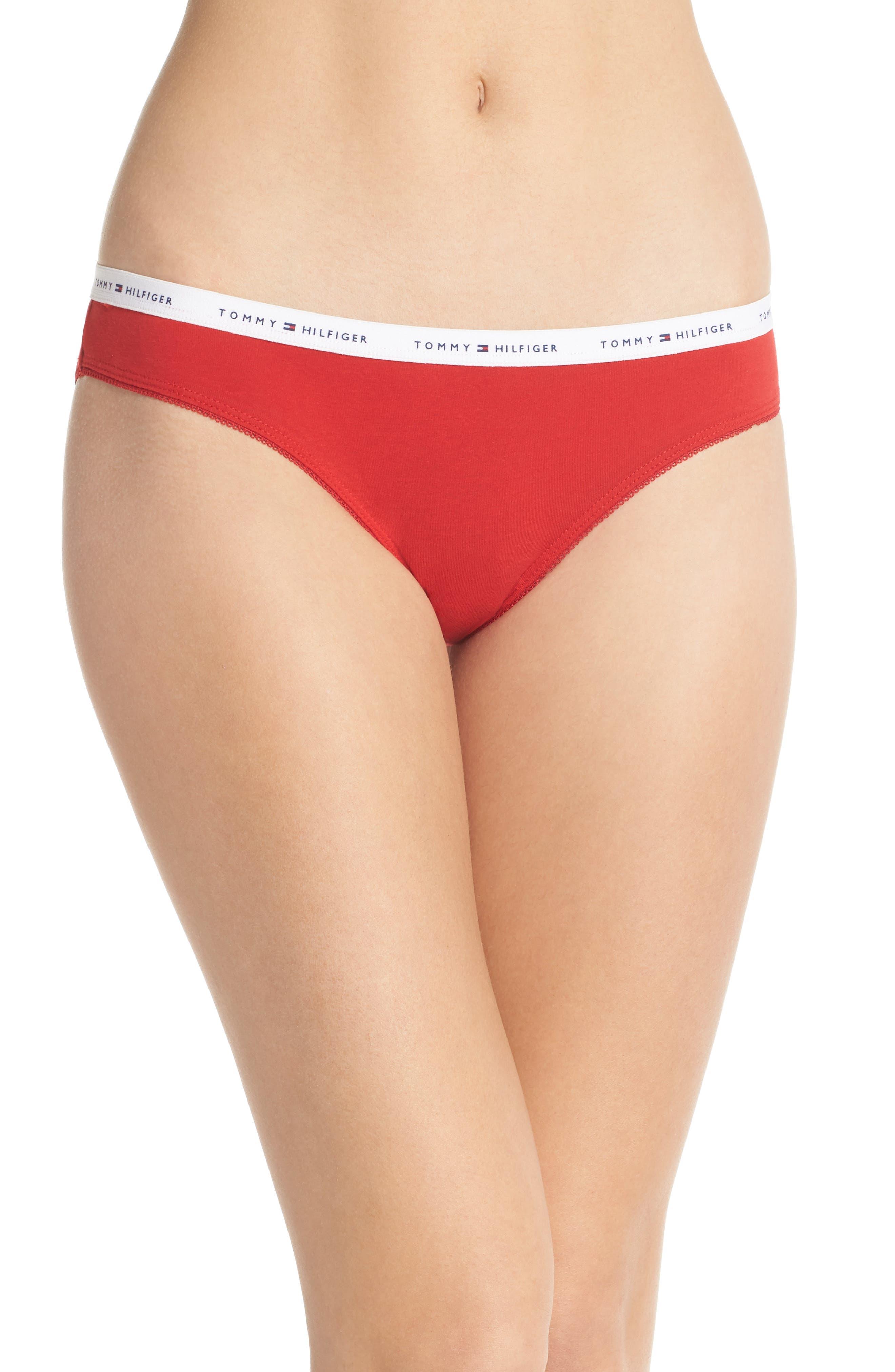 Logo Bikini,                             Main thumbnail 1, color,                             Apple Red