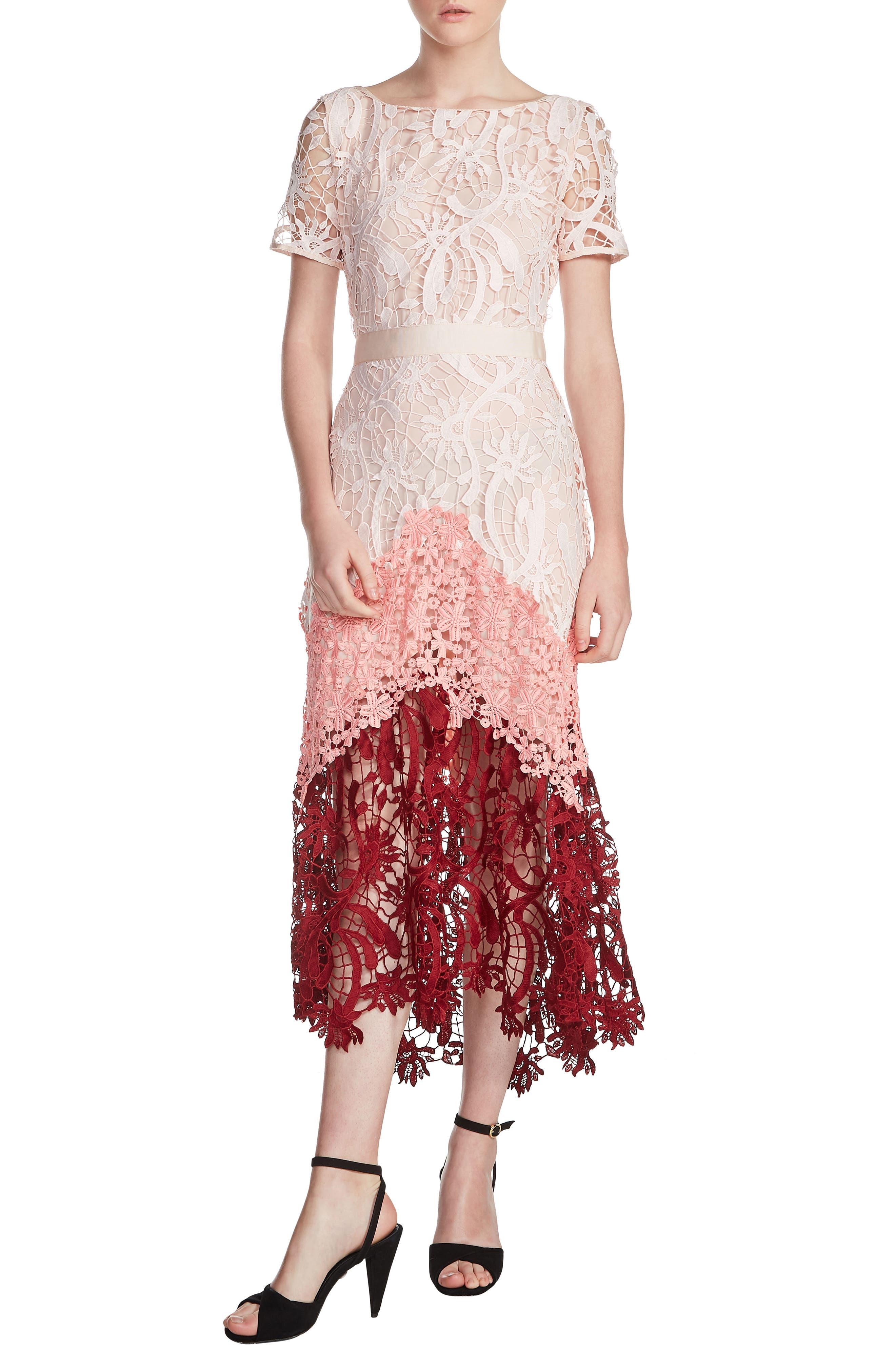 maje Romarin Multicolor Lace Dress