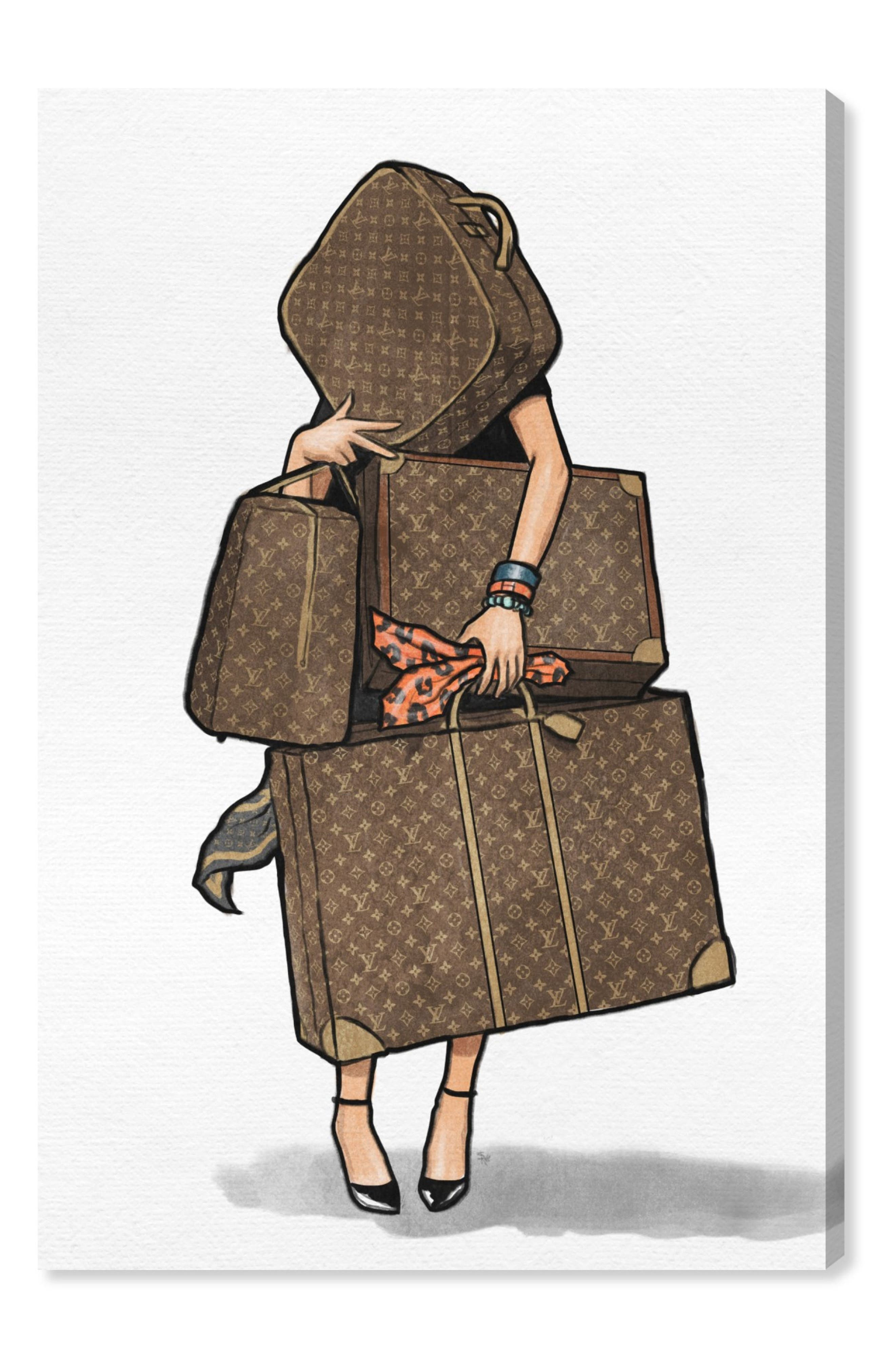 Oliver Gal Bags Bags Bags Canvas Wall Art