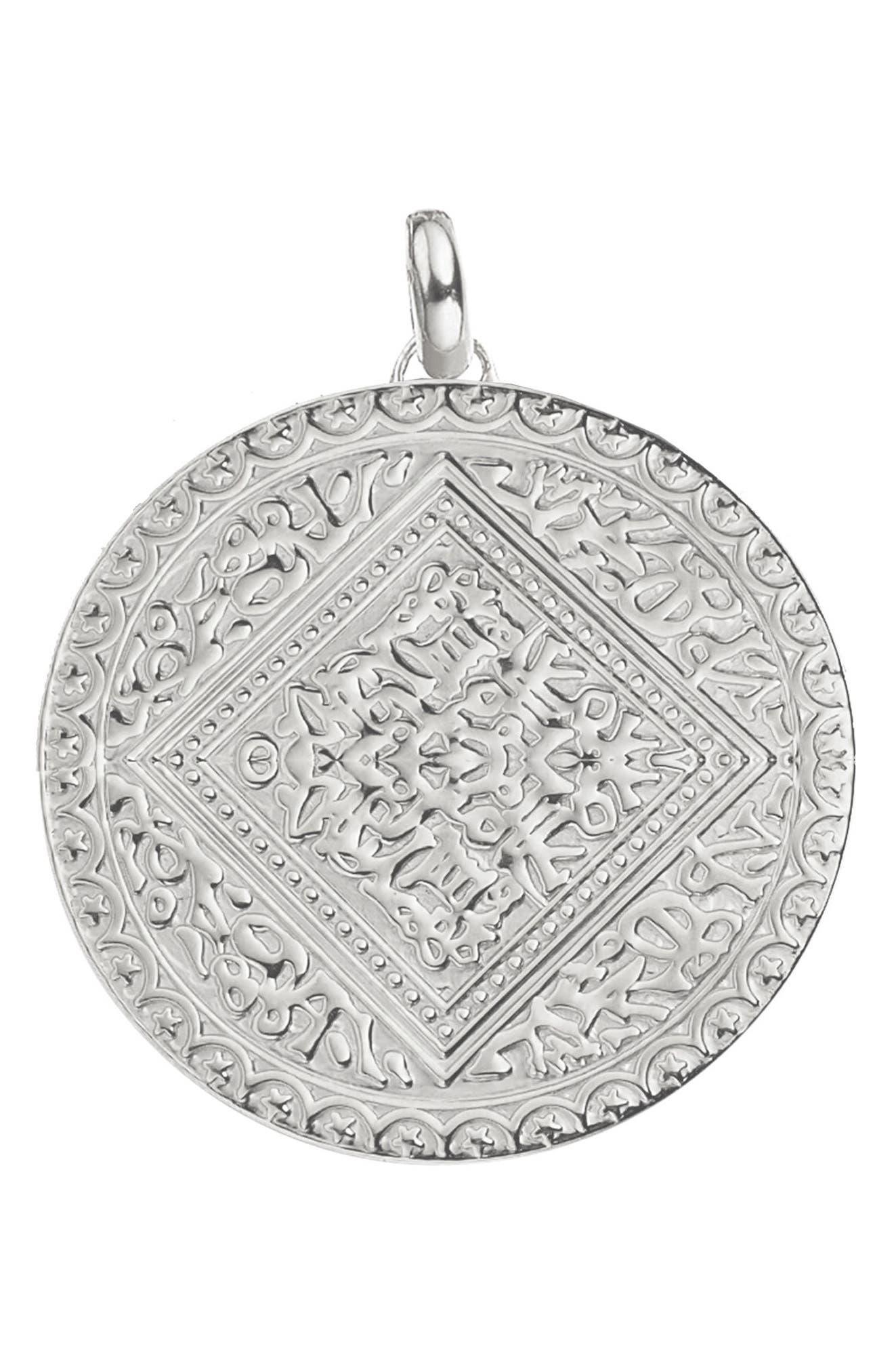 Marie Pendant,                         Main,                         color, Silver