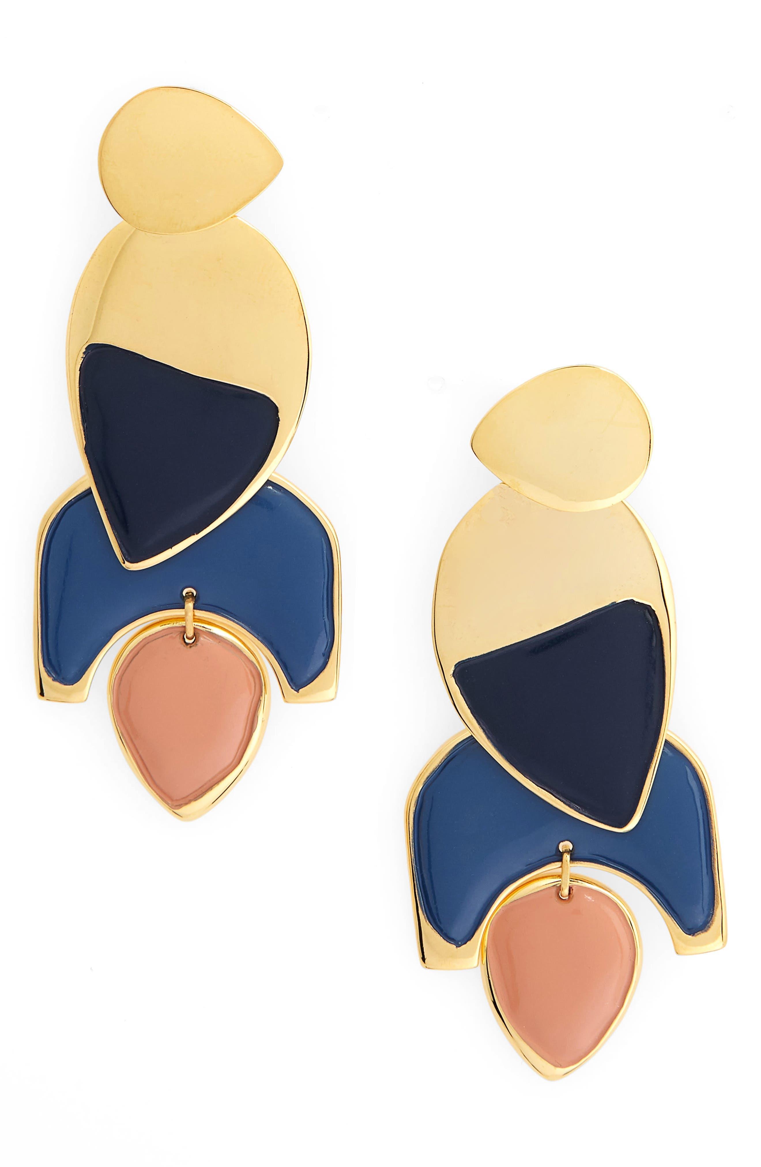 Lizzie Fortunato Blue Horizon Drop Earrings