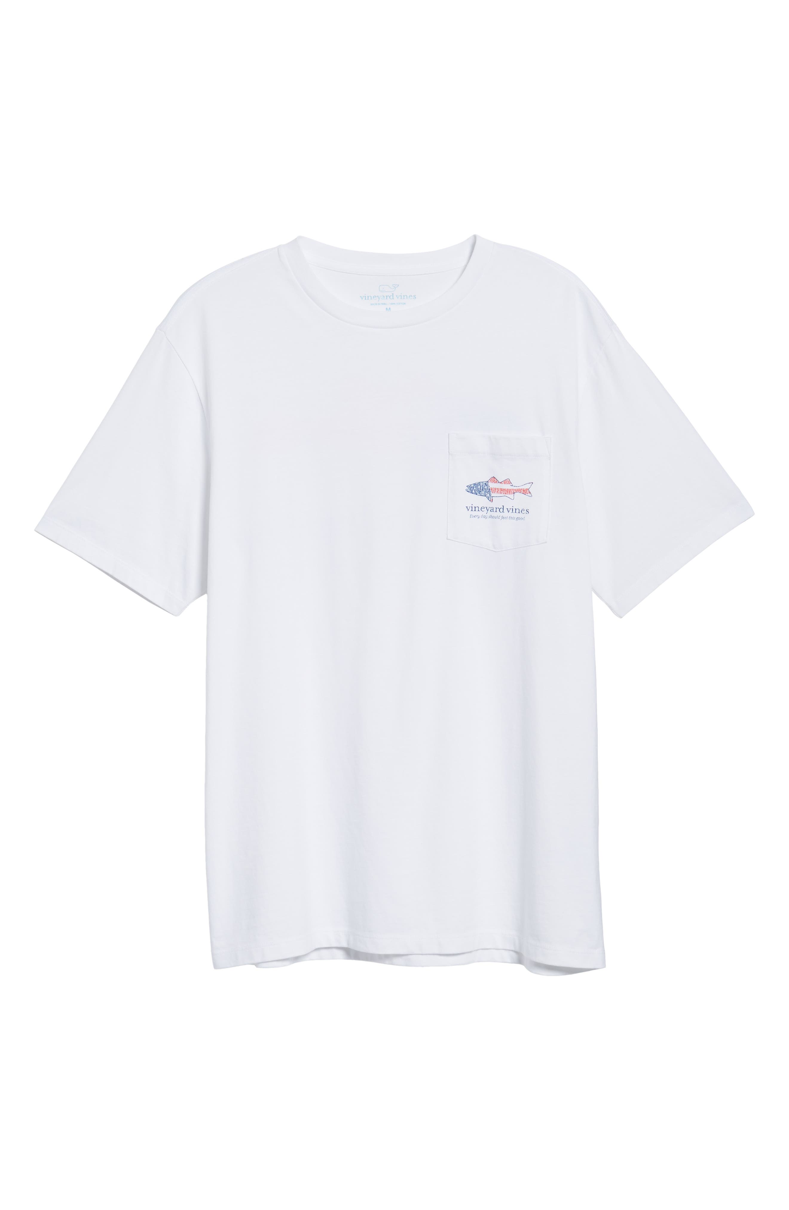 Grouper Flat Crewneck T-Shirt,                             Alternate thumbnail 6, color,                             White Cap