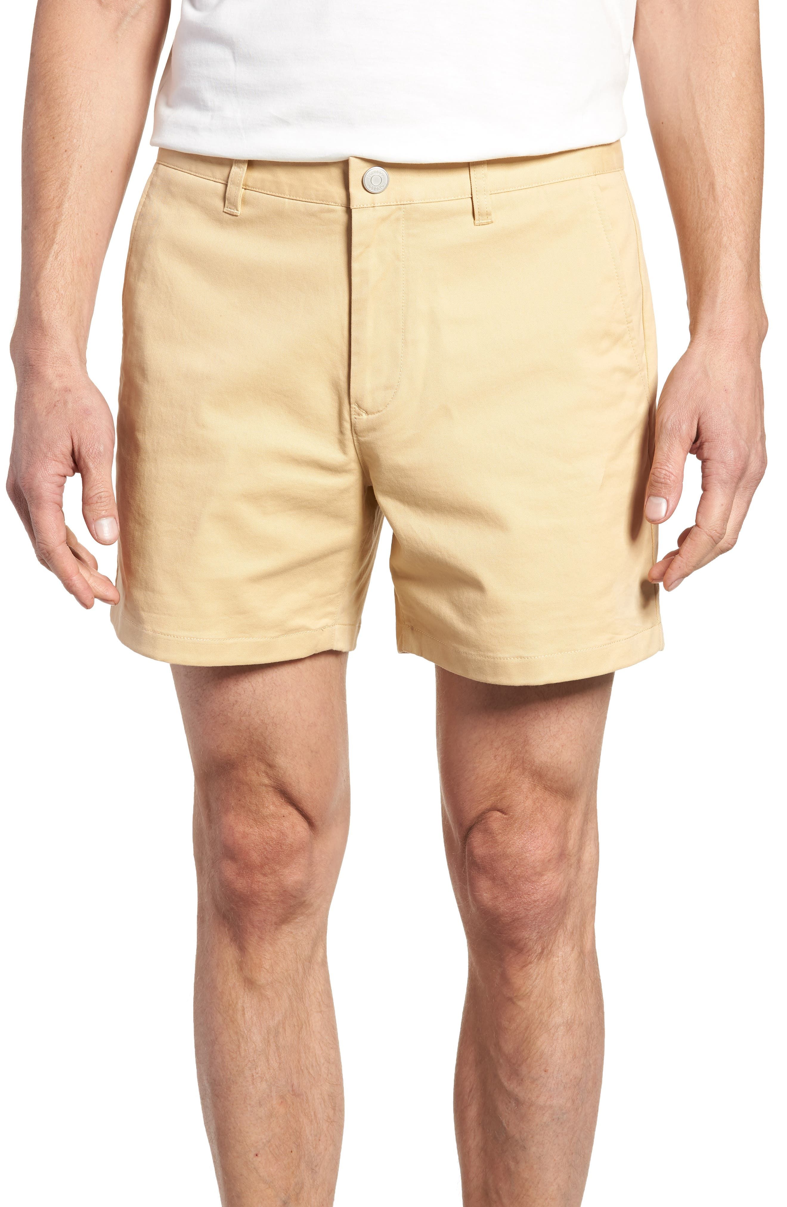 Stretch Washed Chino 5-Inch Shorts,                         Main,                         color, Gold Khaki