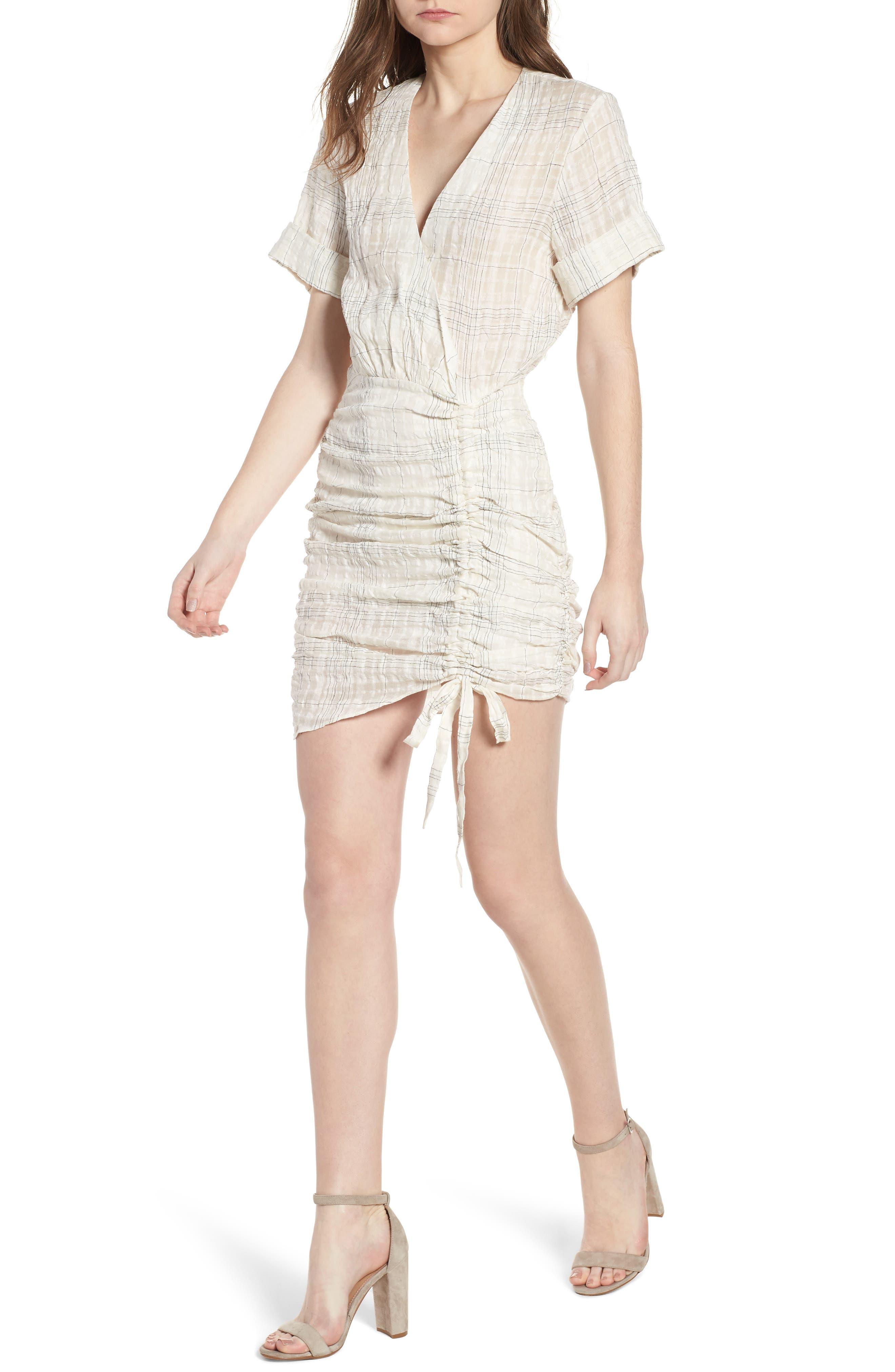 Freja Ruched Dress,                             Main thumbnail 1, color,                             Picnic Check