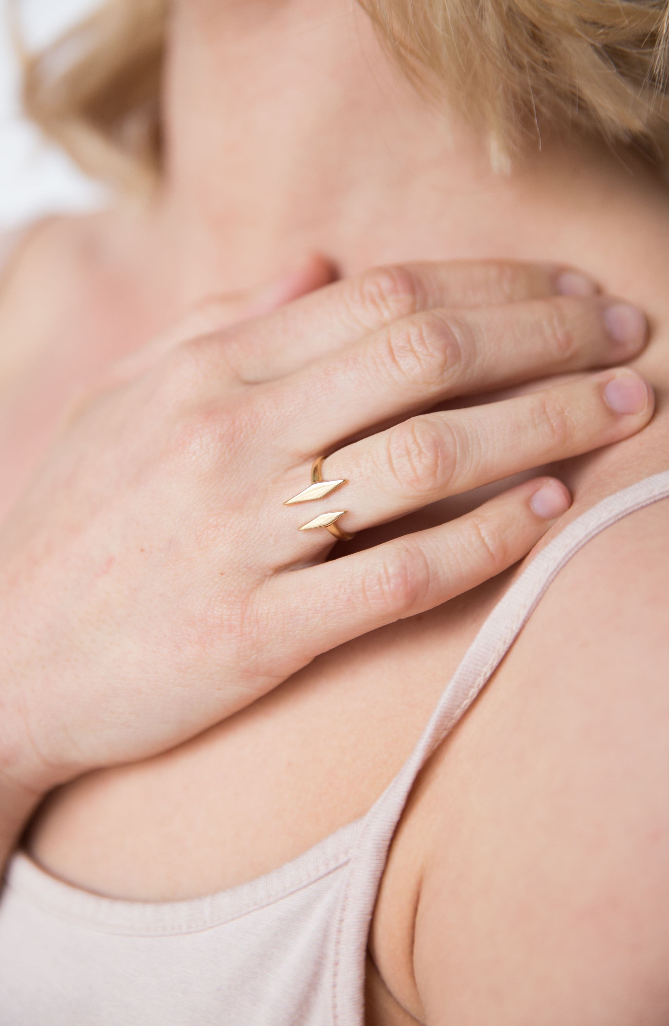 Windsor Open Ring,                             Alternate thumbnail 3, color,                             Gold