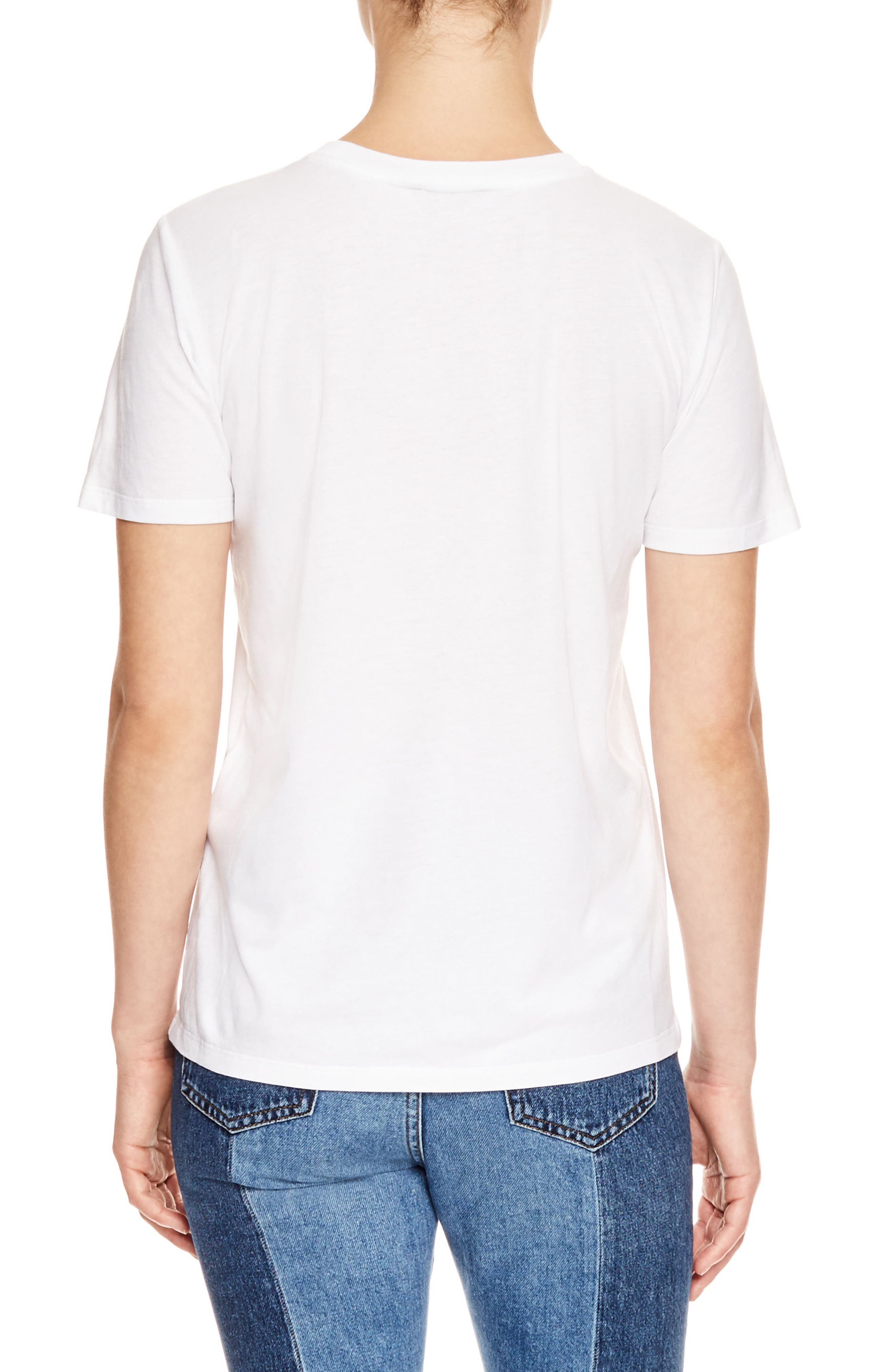 Embroidered Stamp Graphic Tee,                             Alternate thumbnail 2, color,                             Blanc