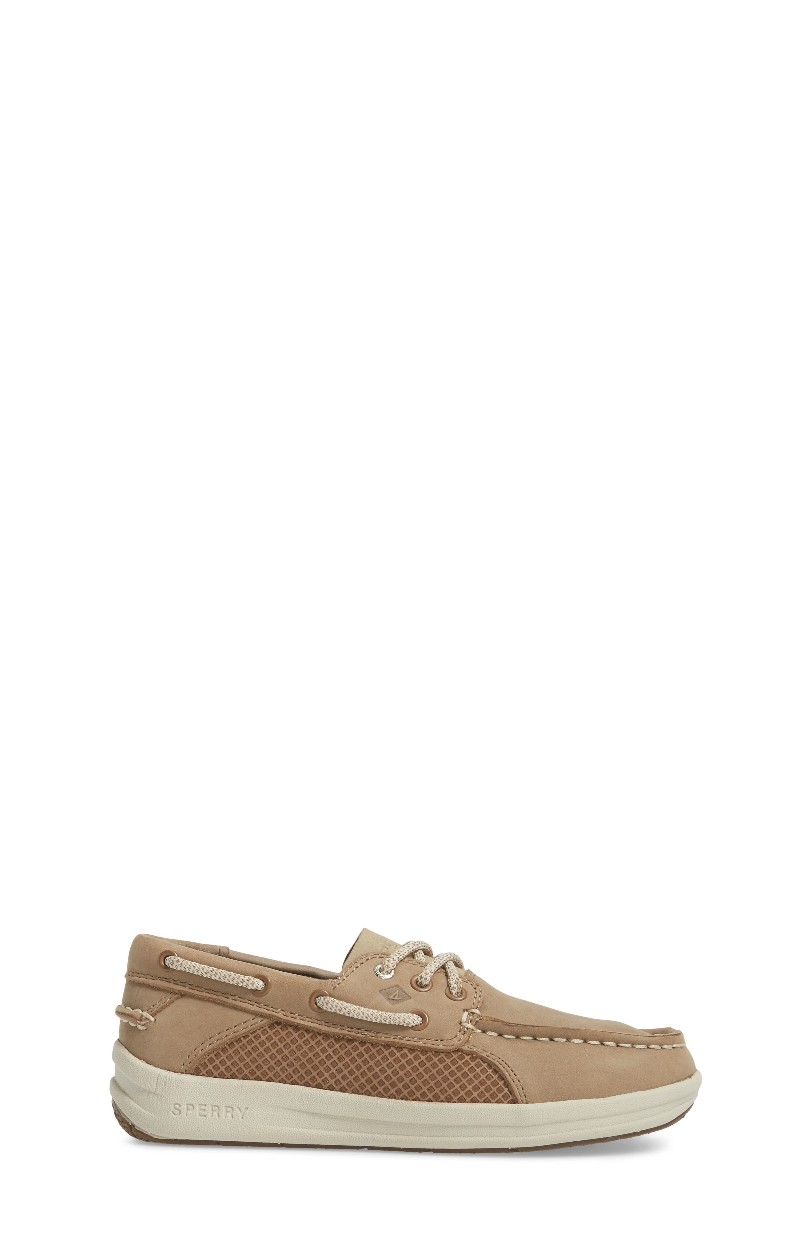 Sperry Gamefish Boat Shoe,                             Alternate thumbnail 3, color,                             Light Tan Leather