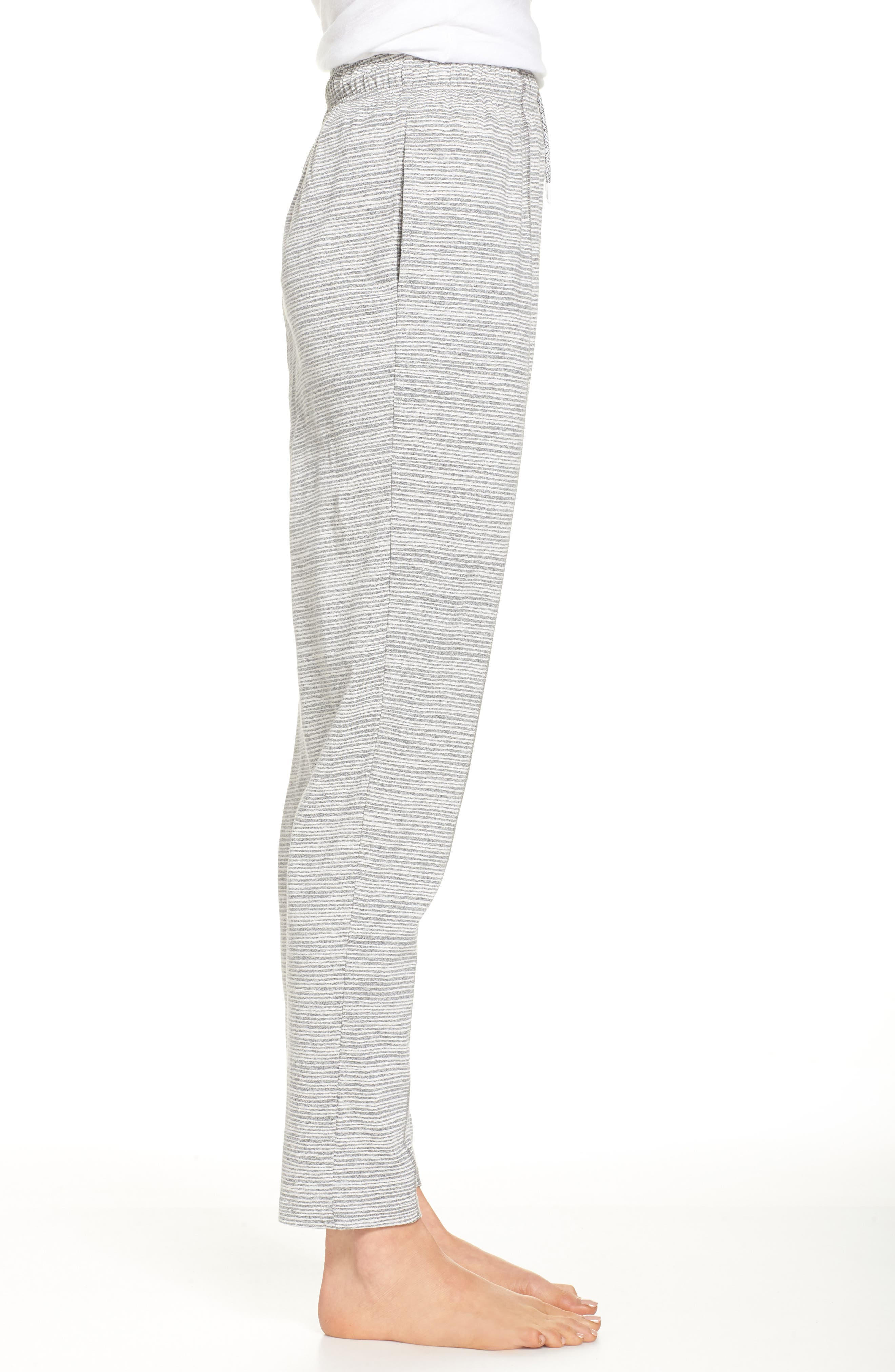 Ash Stripe Lounge Pants,                             Alternate thumbnail 3, color,                             Ash Marle Stripe