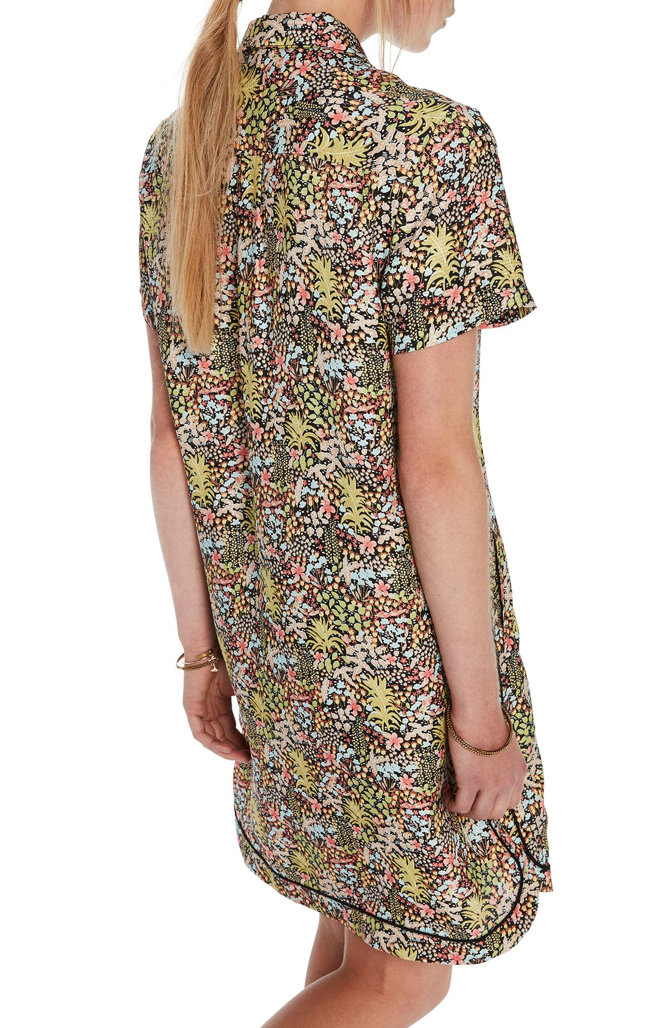 Tropical Print Shirtdress,                             Alternate thumbnail 2, color,                             Color 17 Combo A
