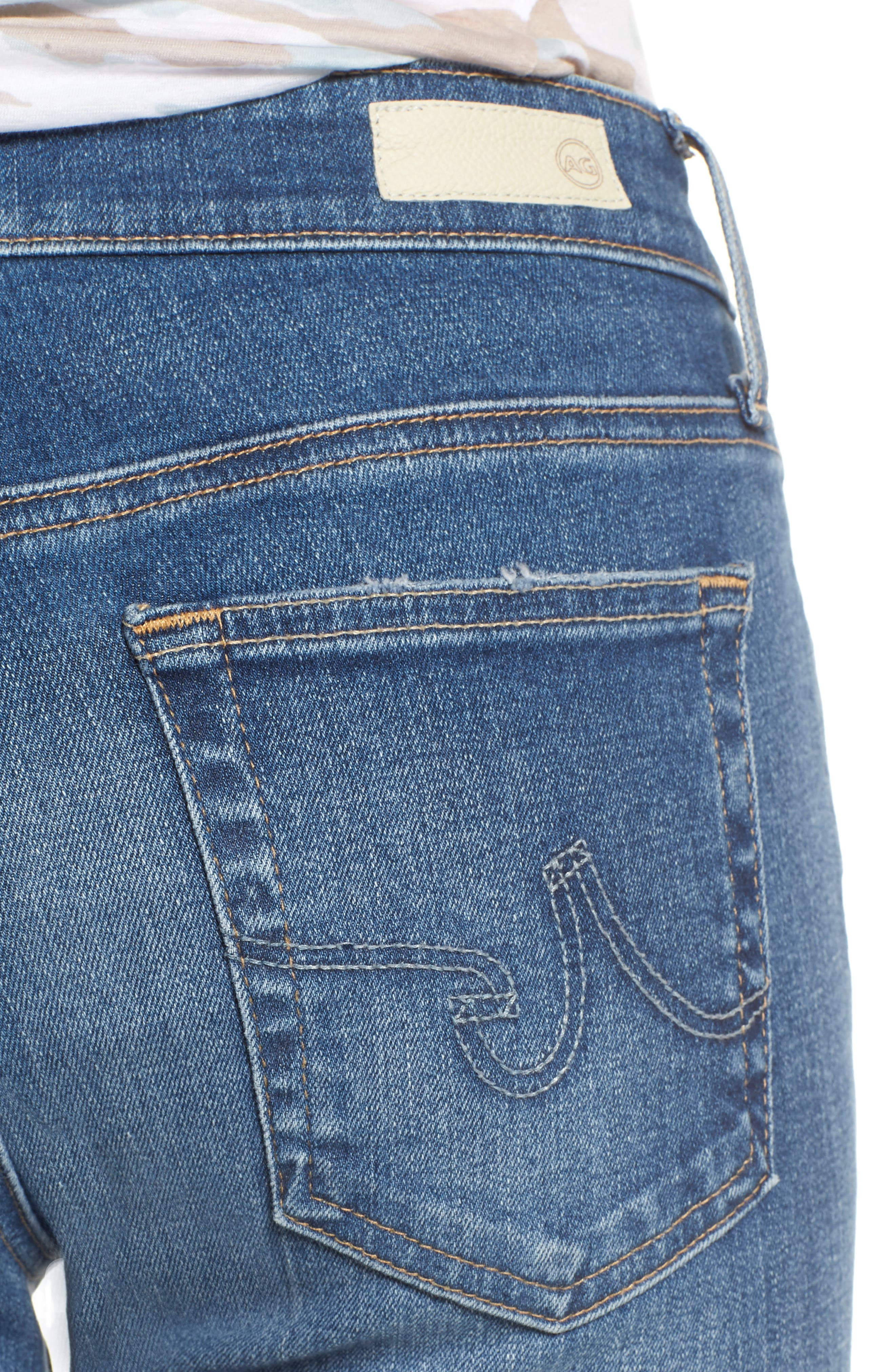 The Farrah High Waist Ankle Skinny Jeans,                             Alternate thumbnail 4, color,                             13 Year Saltwater