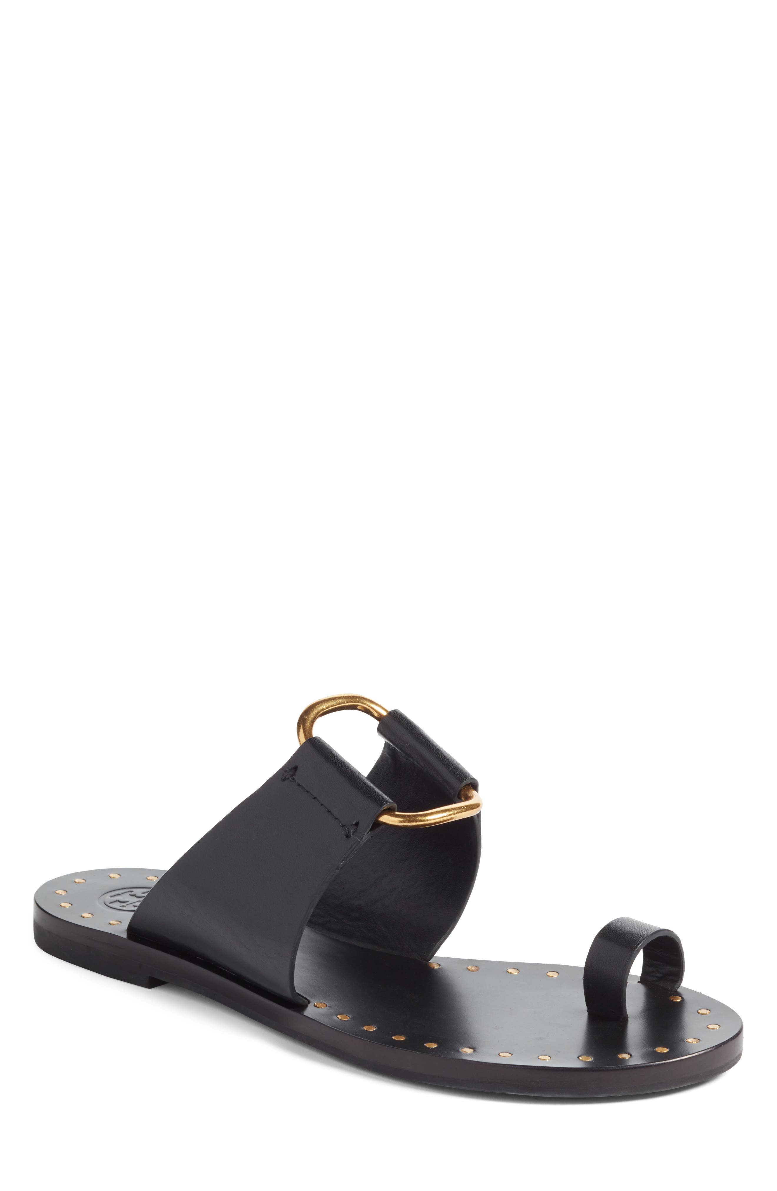 Brannan Studded Sandal,                             Main thumbnail 1, color,                             Perfect Black