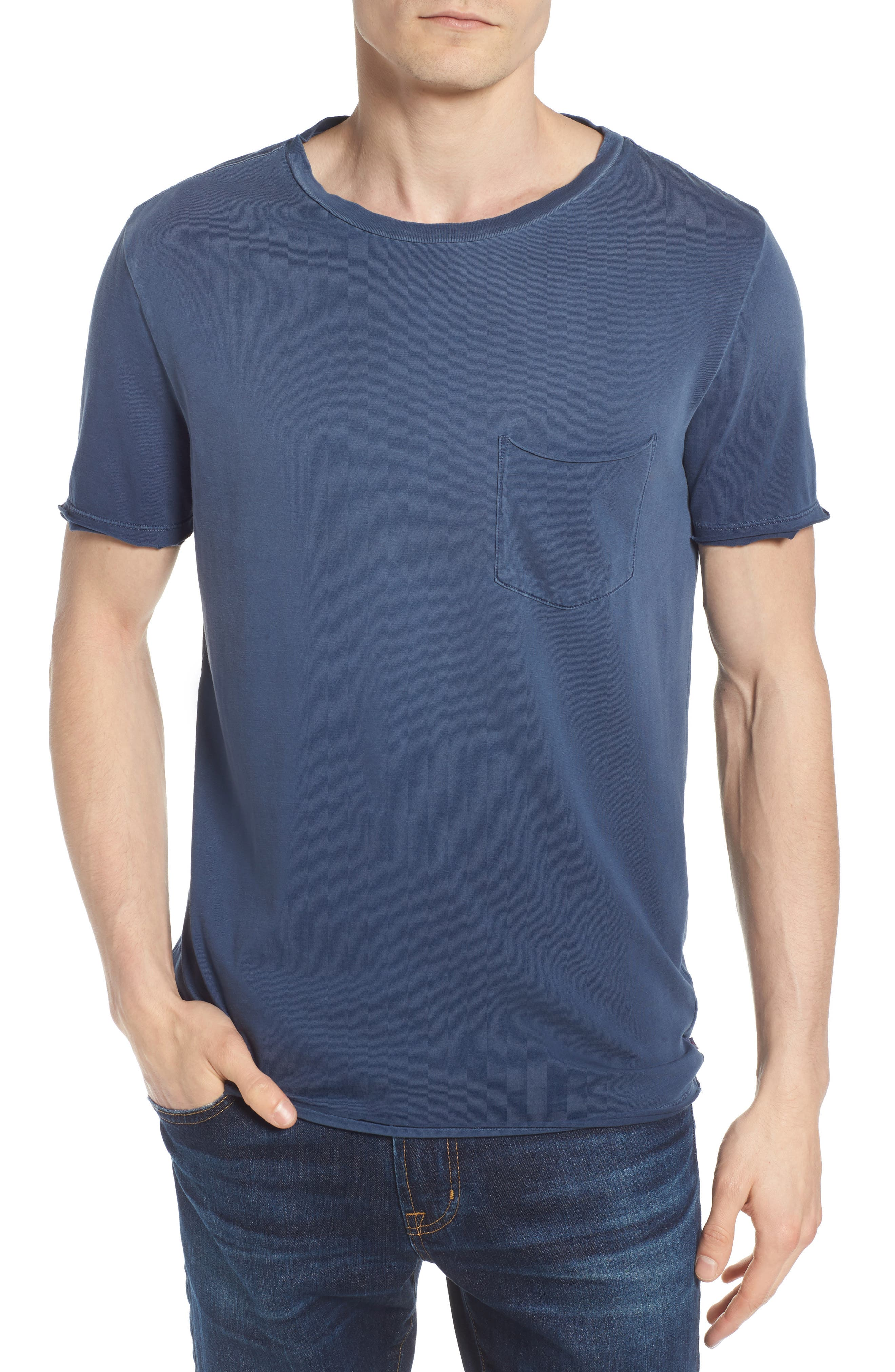 Anders Slim Fit Pocket T-Shirt,                             Main thumbnail 1, color,                             Sun Faded Blue Plume