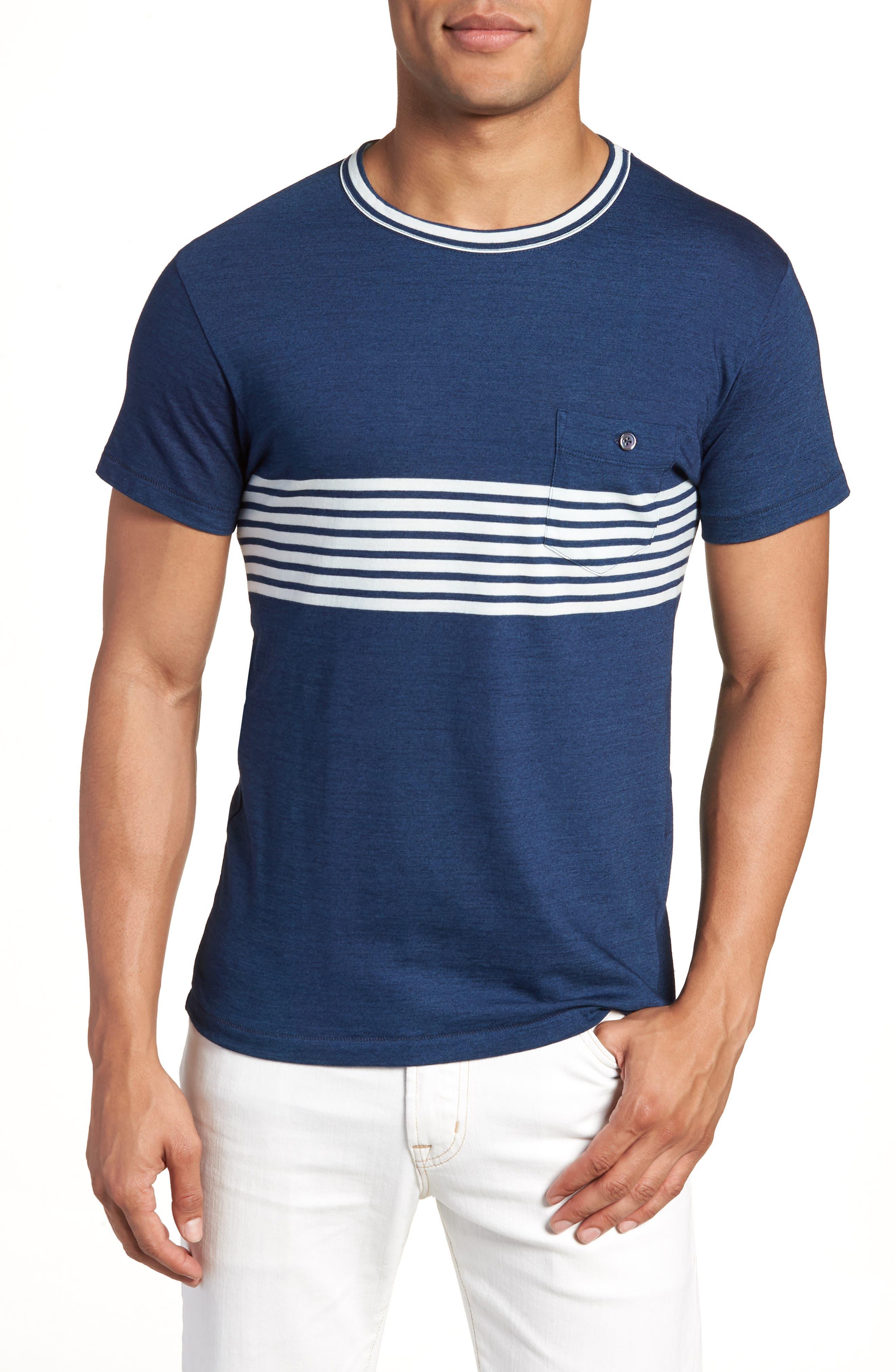 Todd Snyder Engineered Indigo Stripe T-Shirt