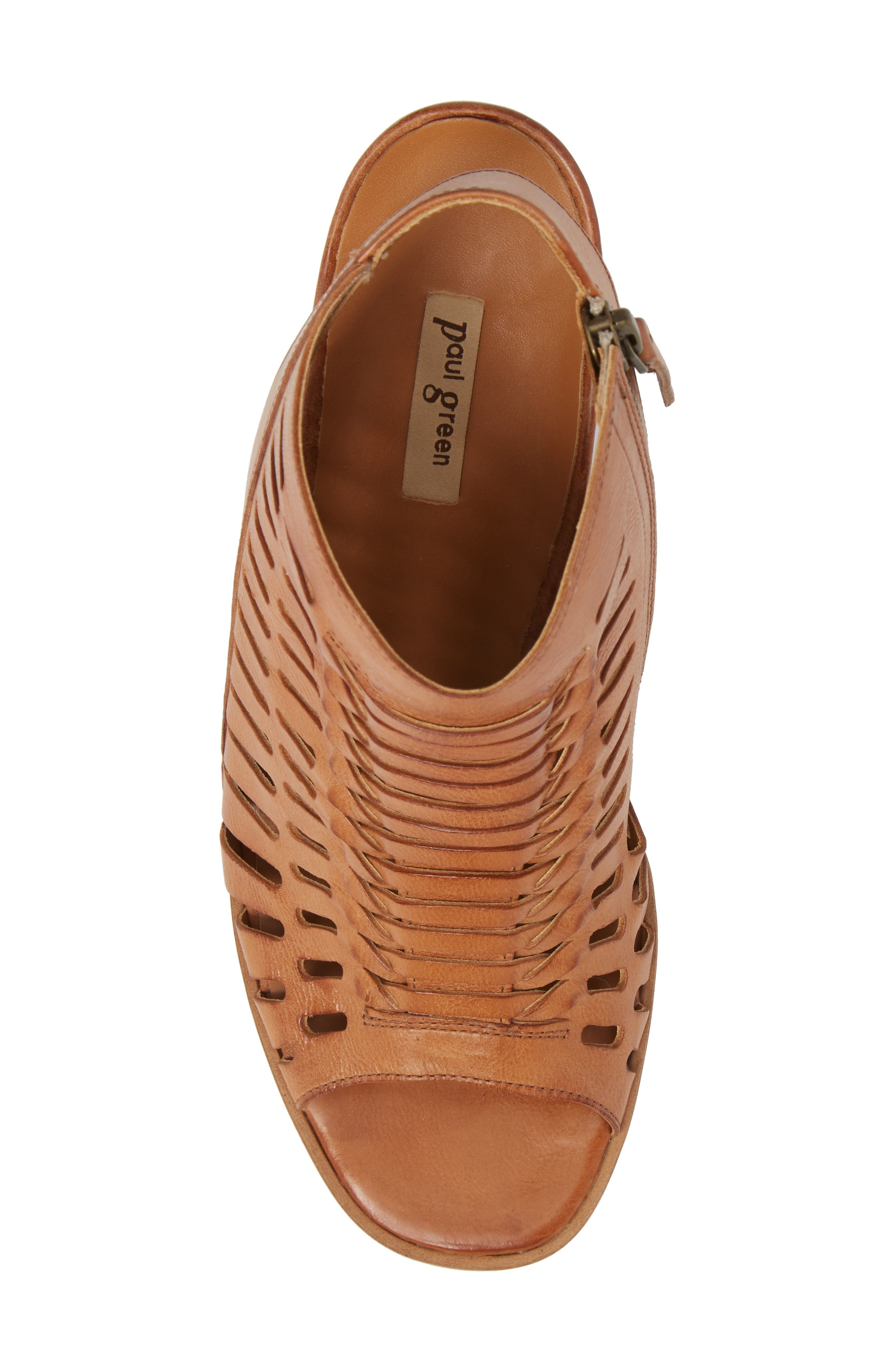 Rosa Woven Peep Toe Sandal,                             Alternate thumbnail 5, color,                             Cuoio Leather